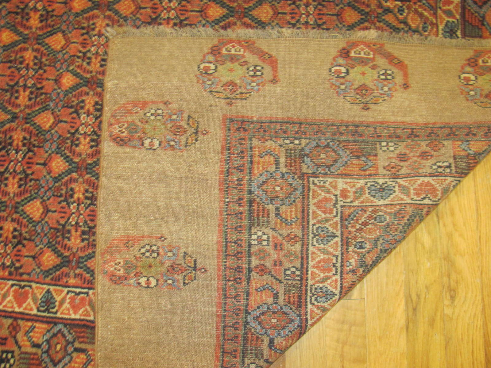 24279 antique Persian Hamadan camel hair hall runner 21,9x3,9 (4)