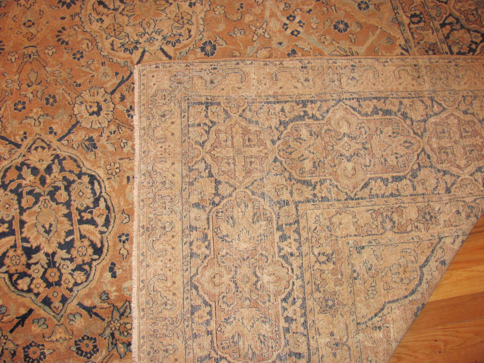 24288 antique Persian kerman carpet 9,6 x 17,6 (1)