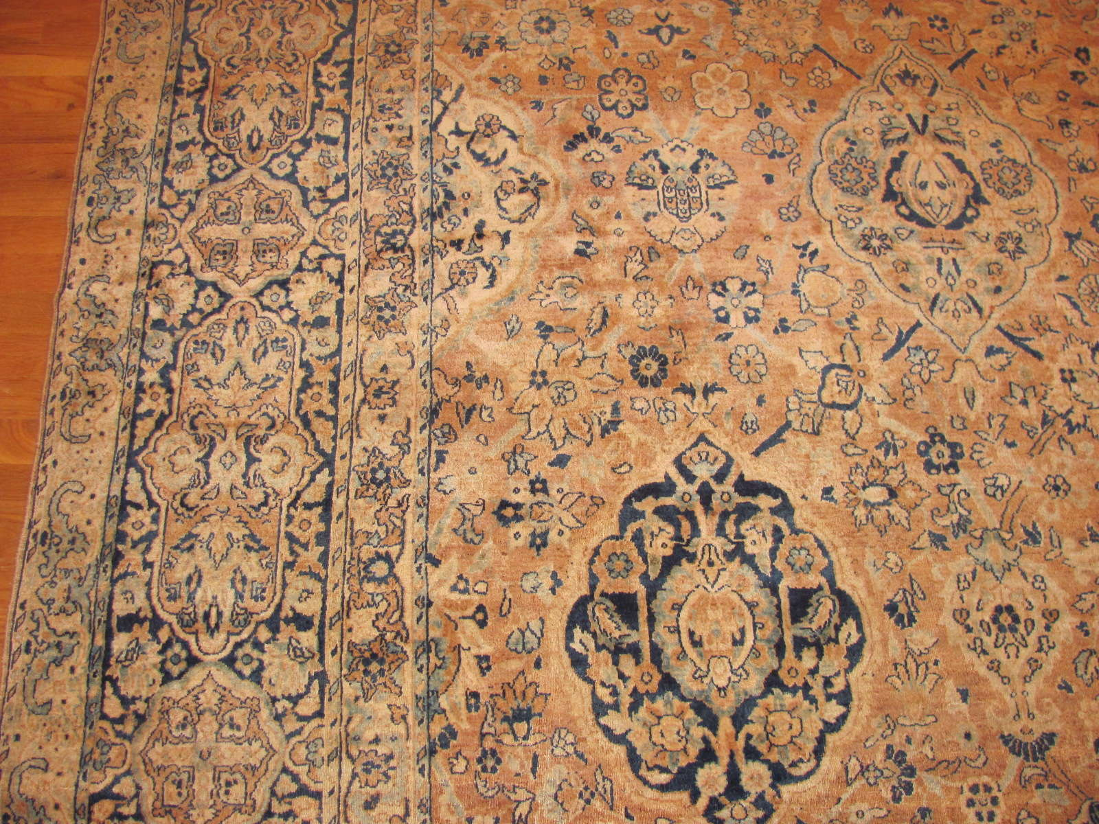24288 antique Persian kerman carpet 9,6 x 17,6 (2)