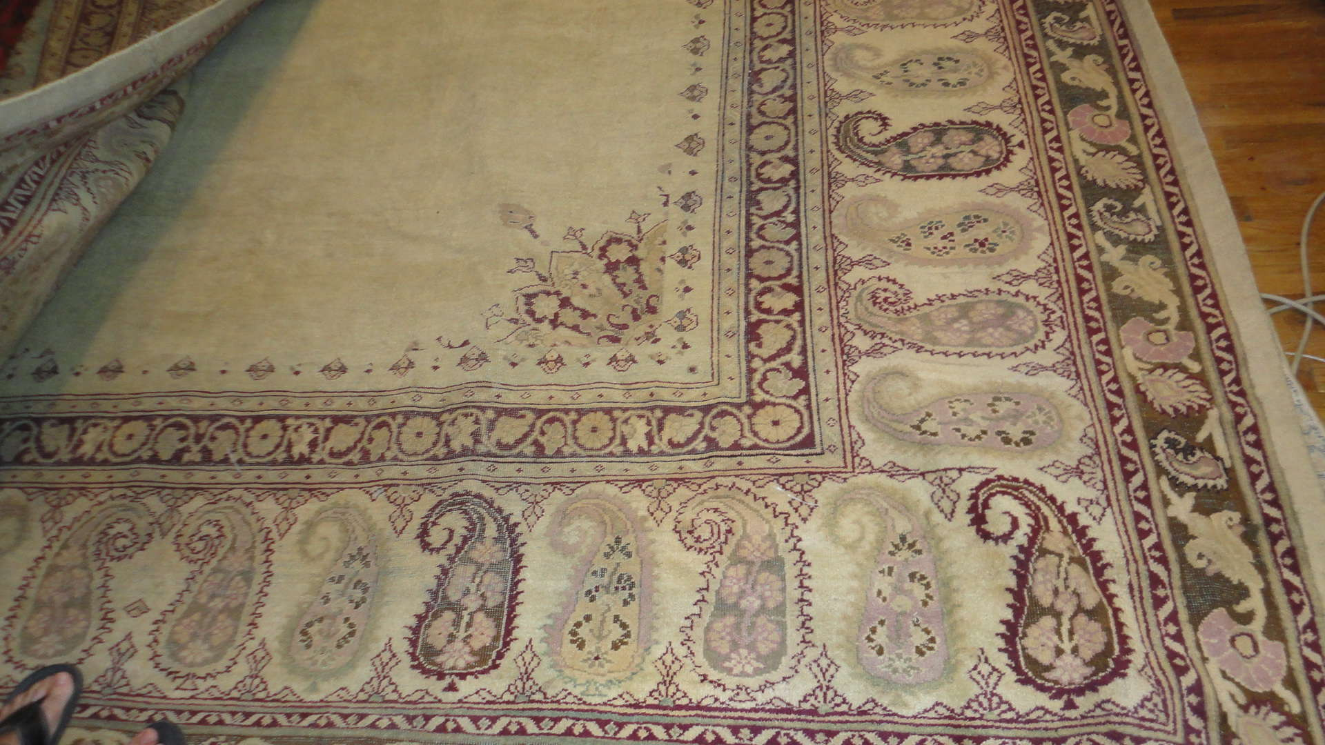 24293 antique Indian amritsar carpet 12 x 18 (1)
