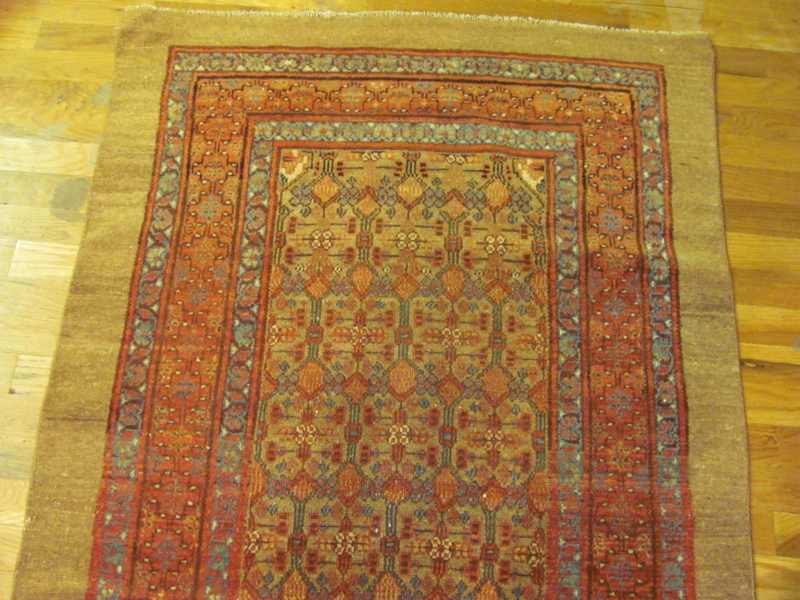 24364 antique Persian Hamada 'camel hair' 3,2 x 13,9 (2)