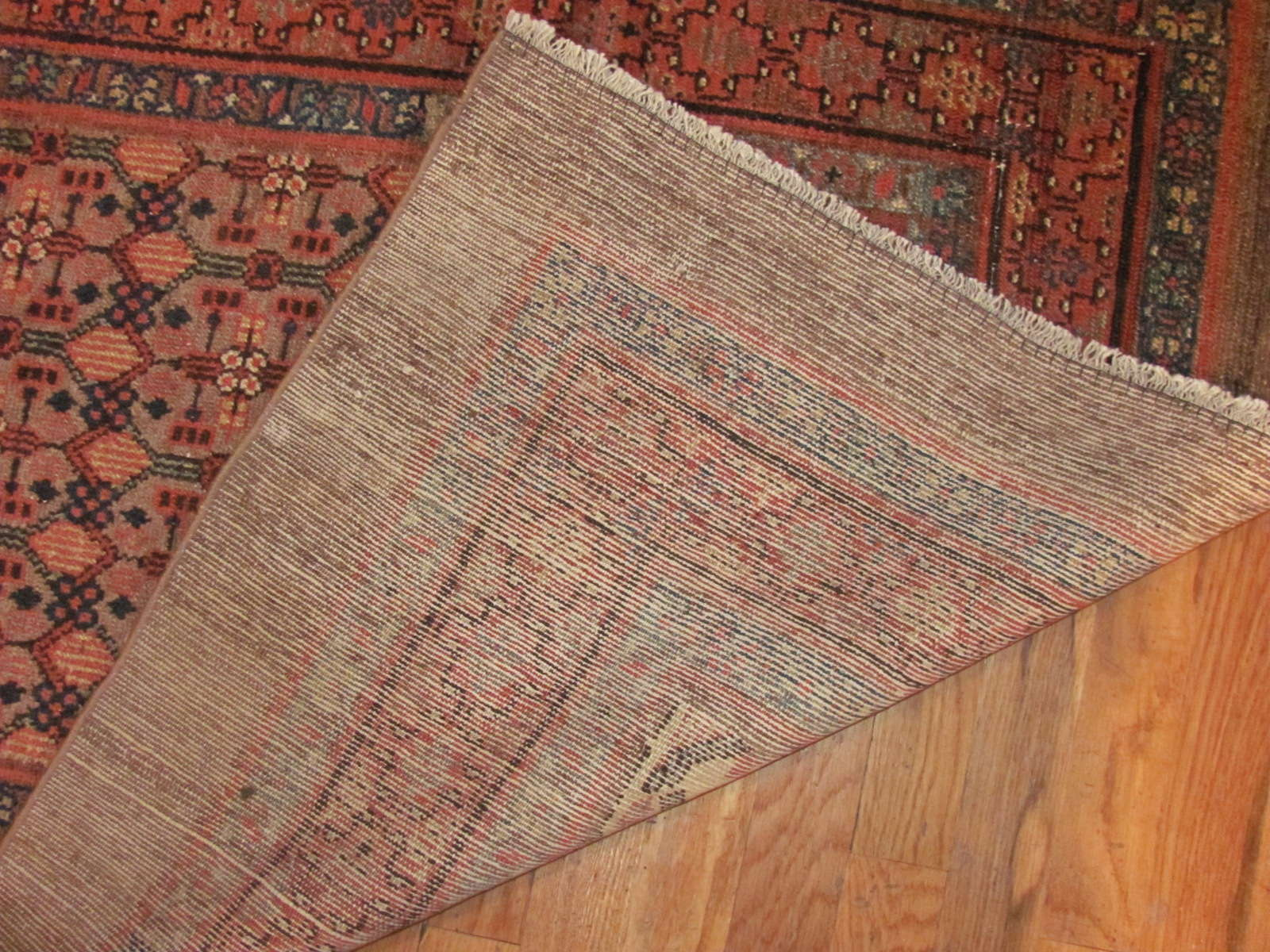 24364 antique Persian Hamada 'camel hair' 3,2 x 13,9 (3)