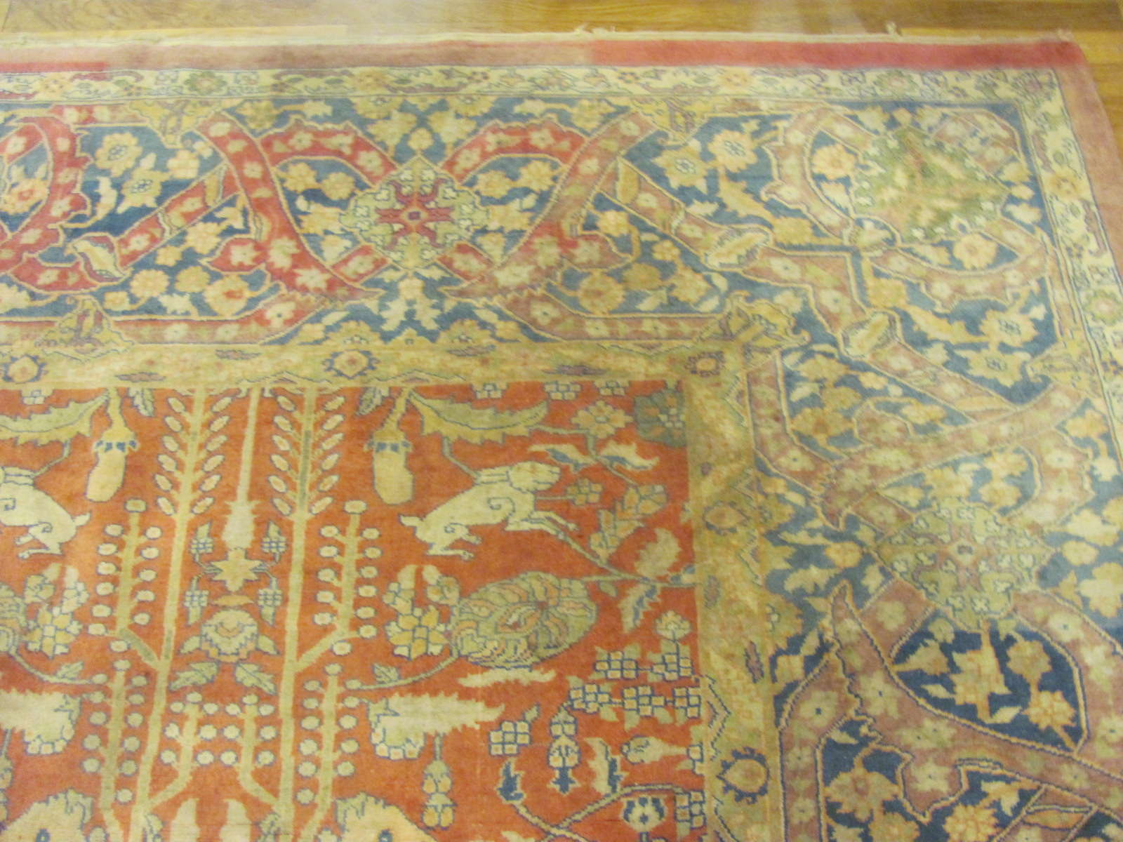 24371 antique India Agra 11,10 x 14 -1
