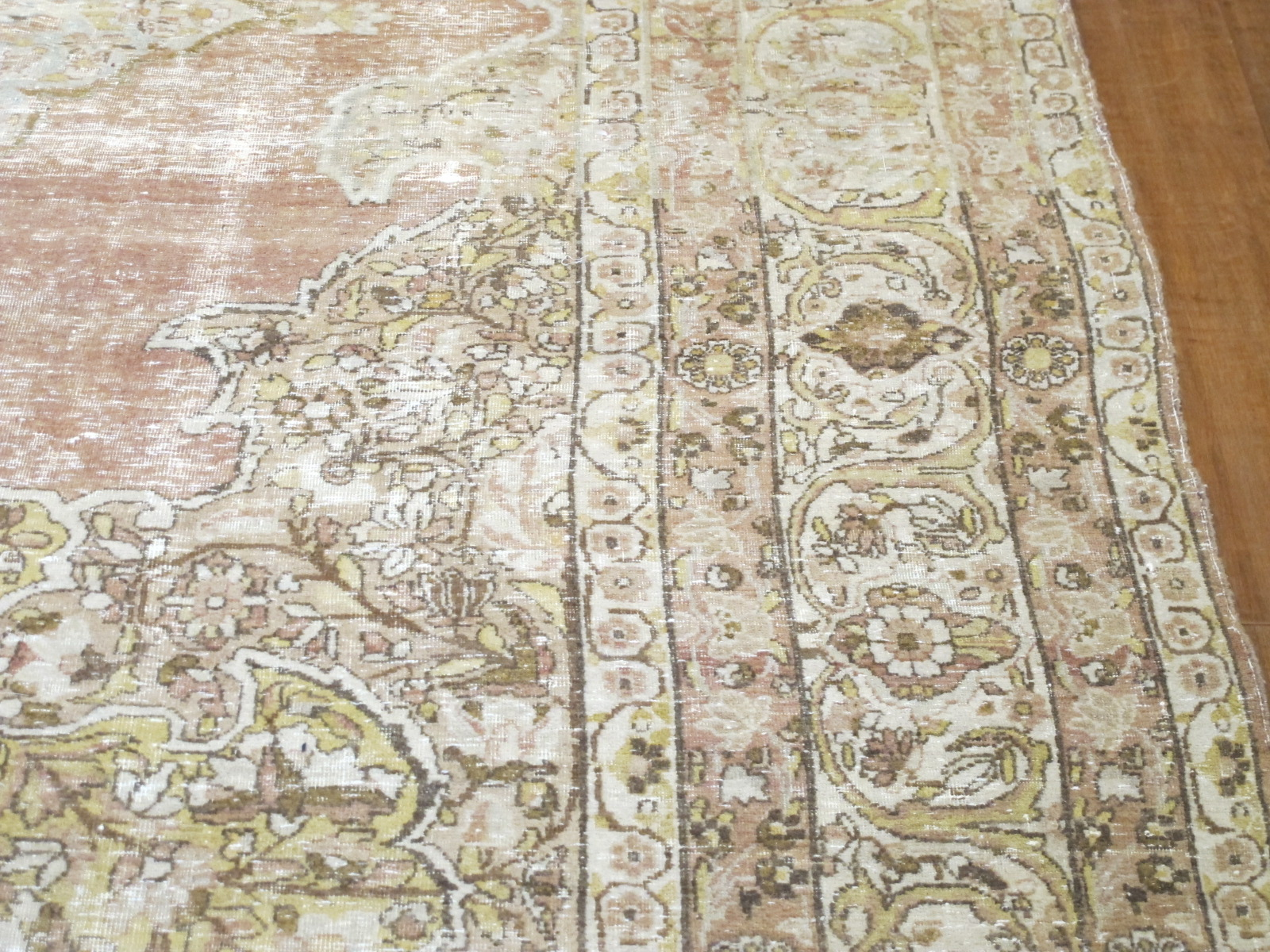 13006 Antique Persian Kerman Lavar carpet 9,9x12,5 (3)