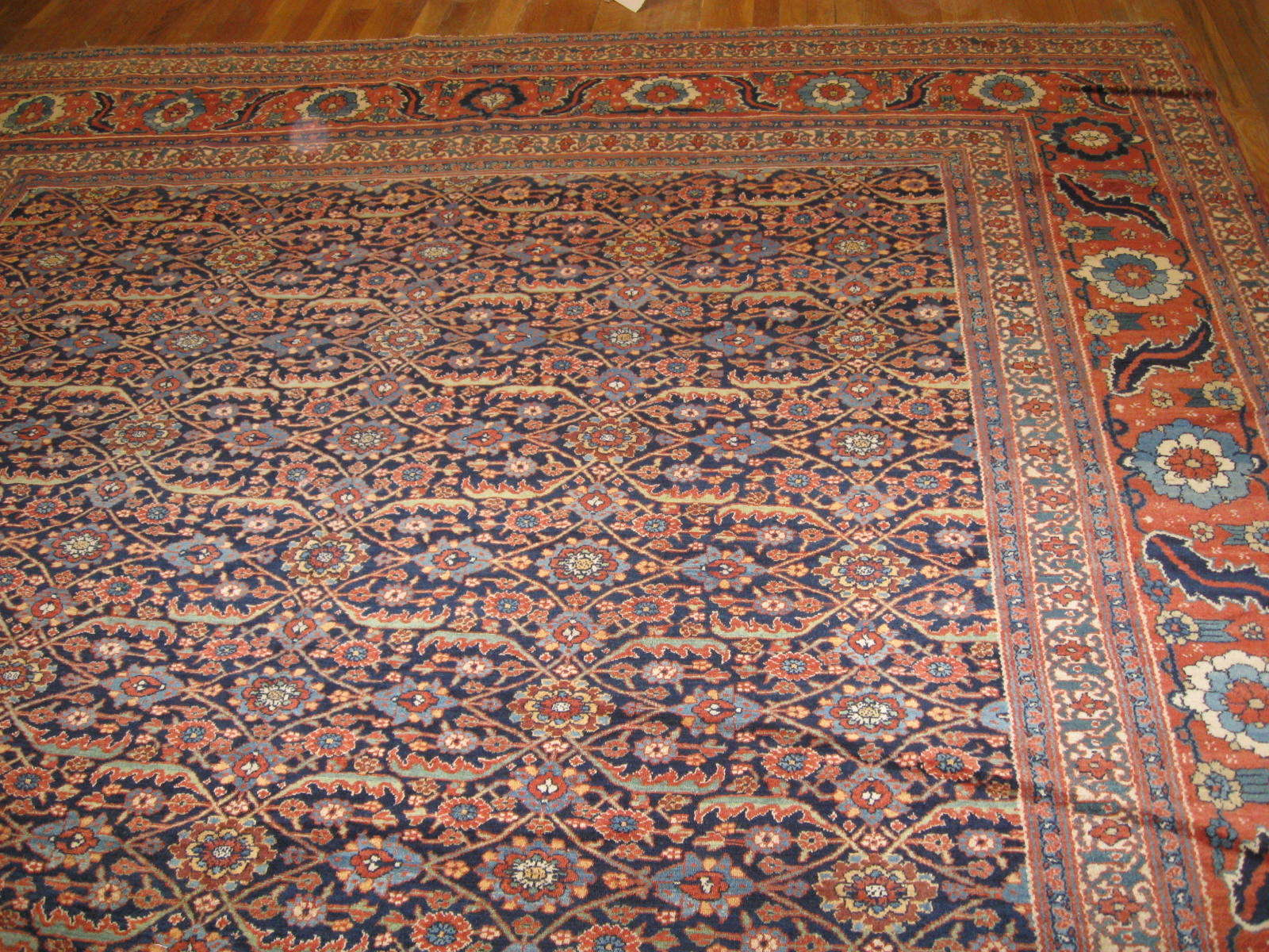 24286 antique Persian Tabriz Sennh baft 9,6 x 17,10 (3)