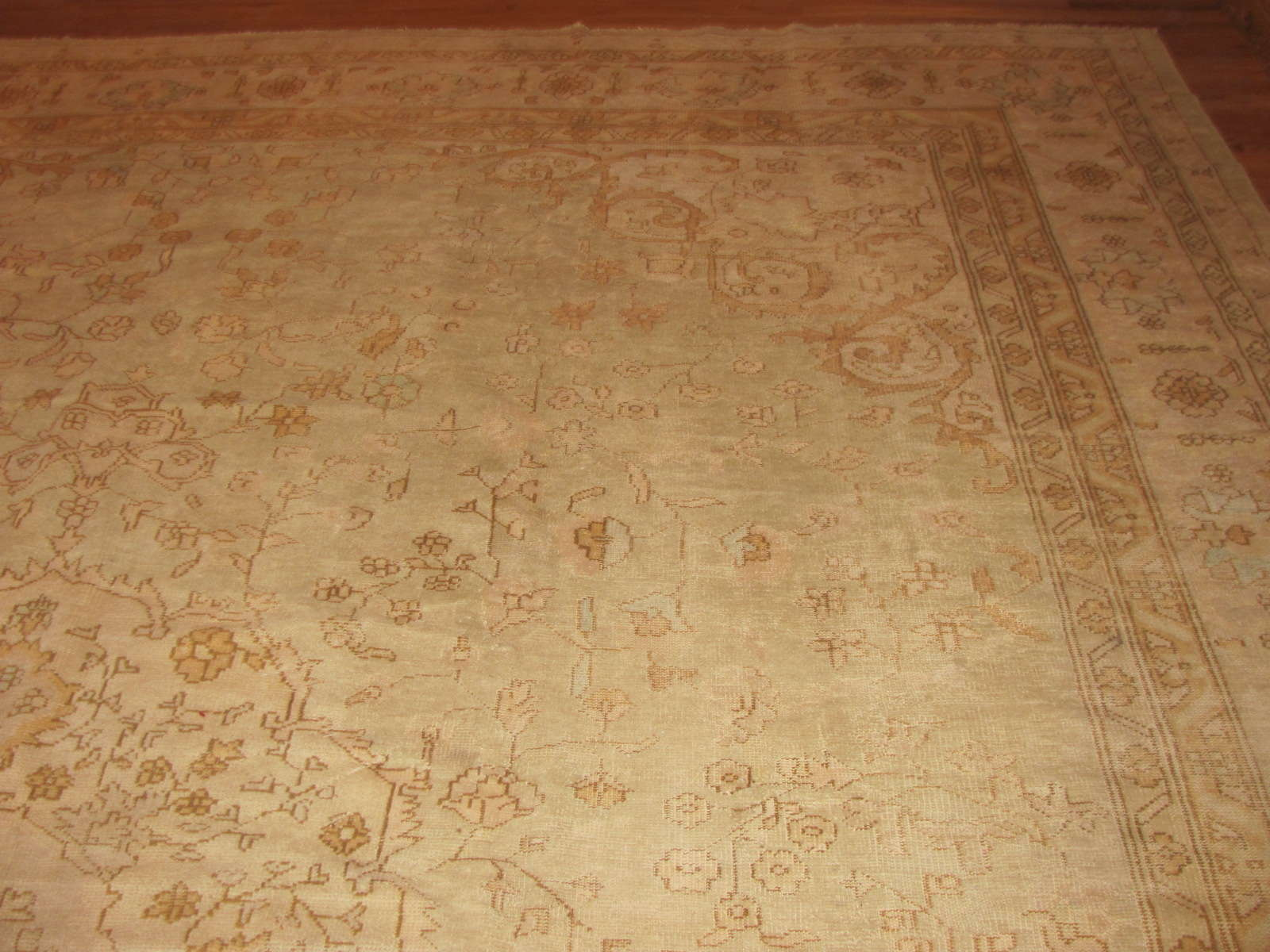 24349 antique Anatolian Oushak 11,10 x 14,7 -1