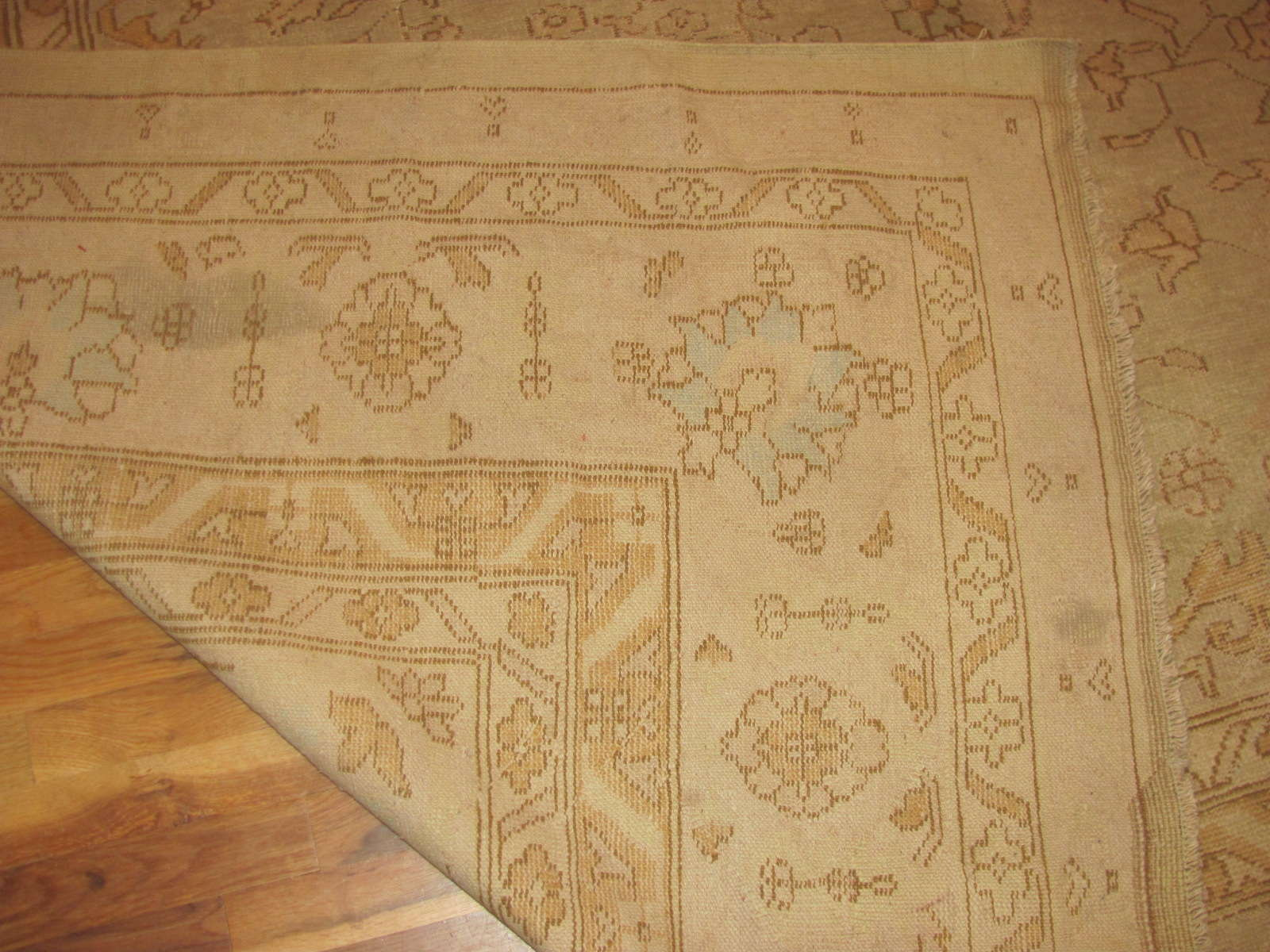 24349 antique Anatolian Oushak 11,10 x 14,7 -3