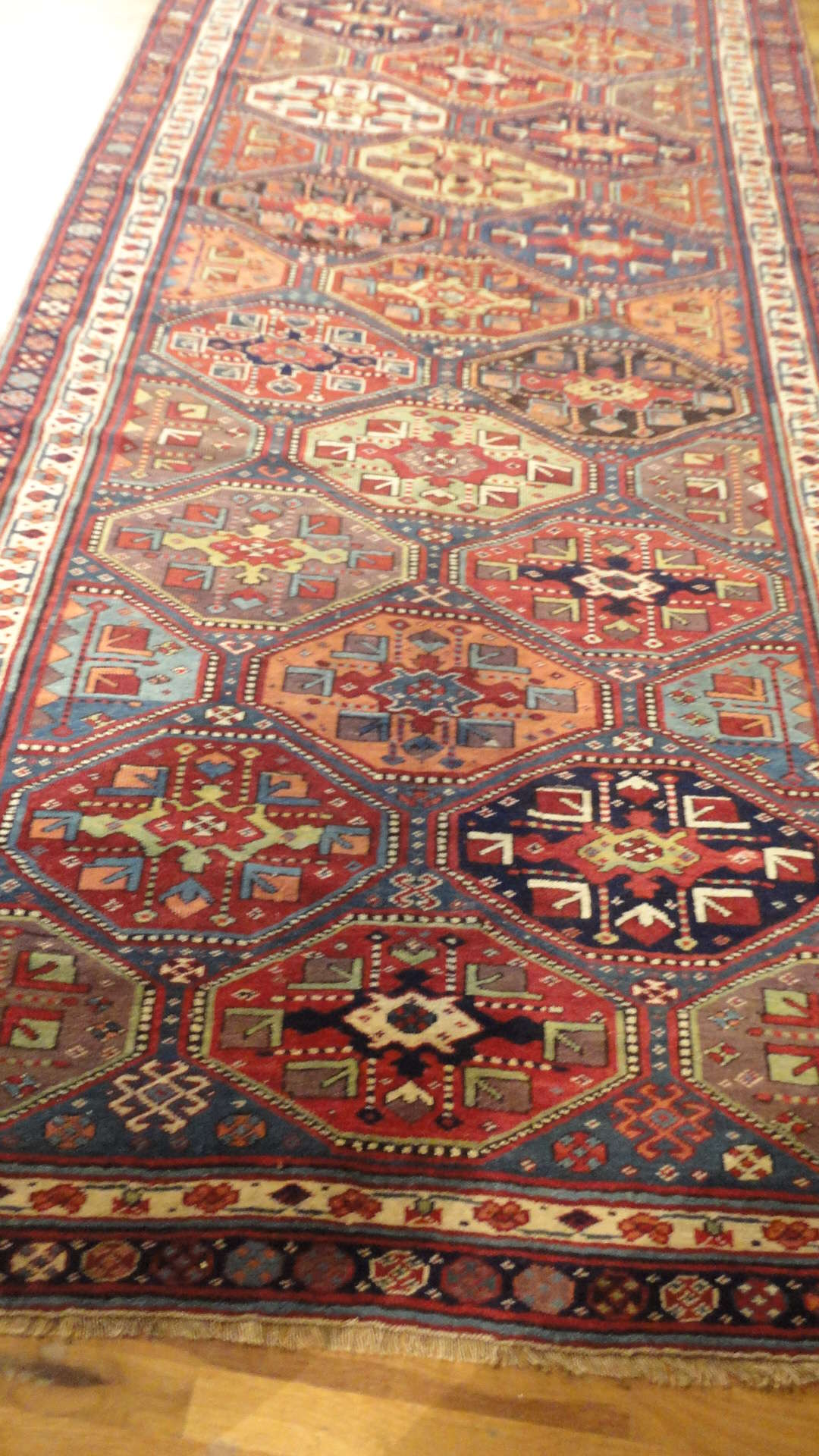 24400 antique Persian Kurdish rug 5x12,8 -1