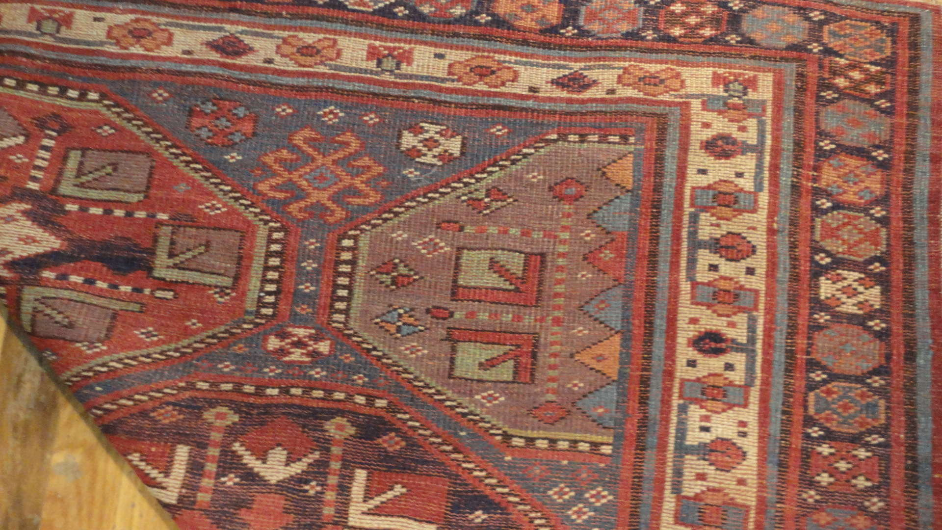 24400 antique Persian Kurdish rug 5x12,8 -3