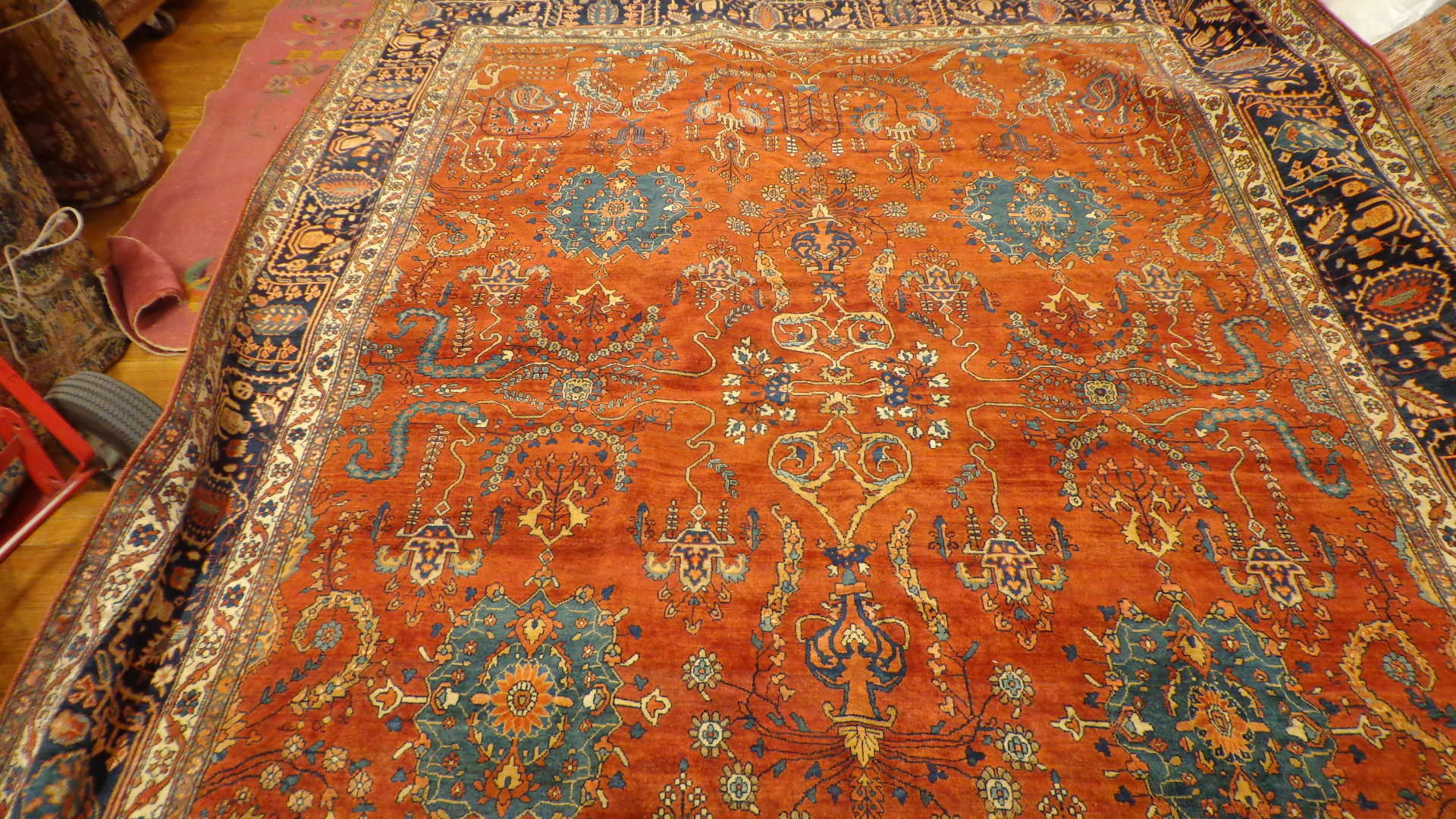 24406 antique Persian Ferahan carpet 9x12,6 -1