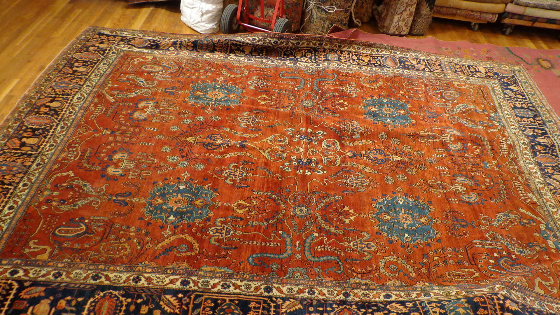 24406 antique Persian Ferahan carpet 9x12,6 -2