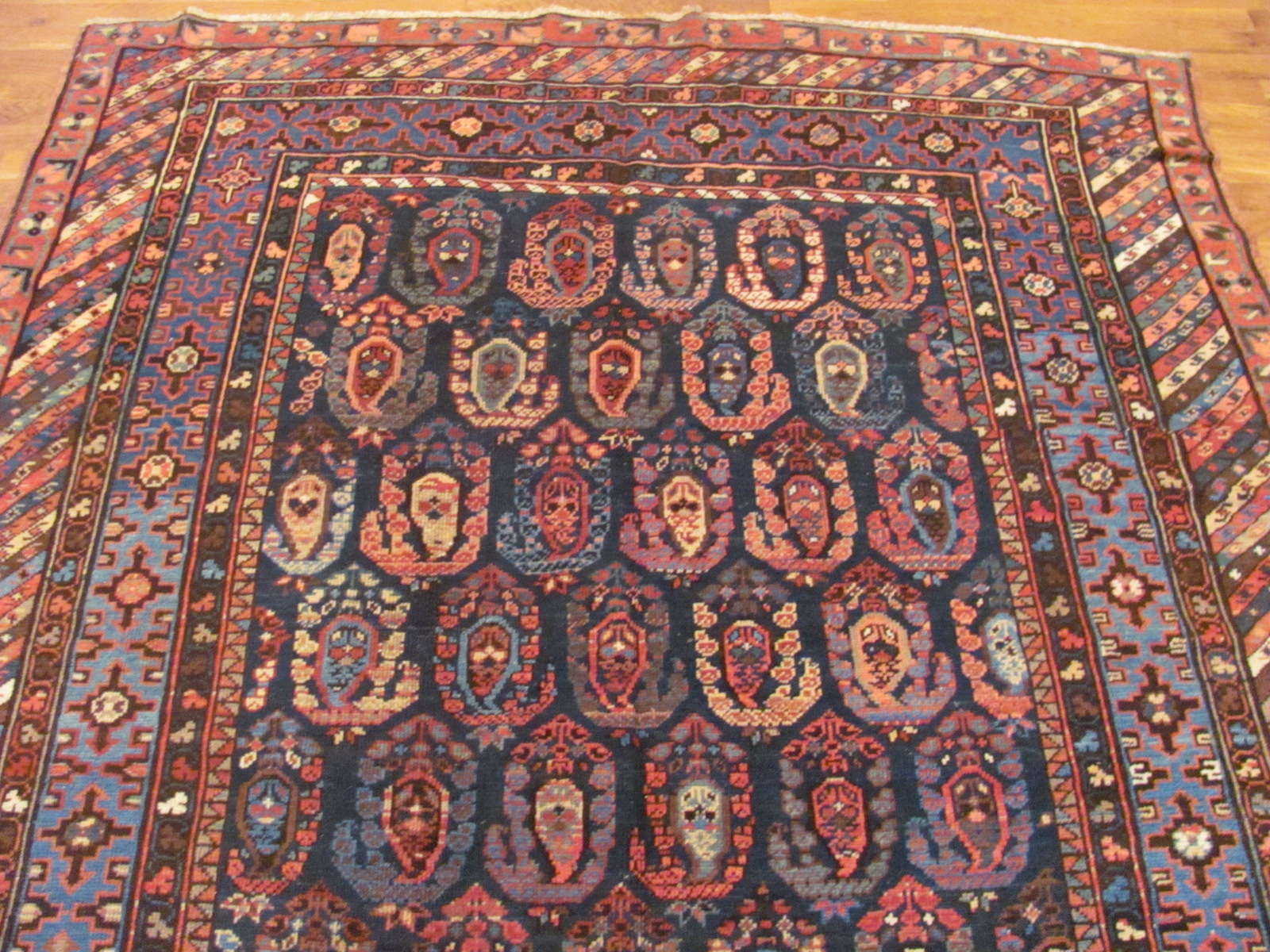 24409 antique Caucasus Baku rug 5,9x11,7 (1)