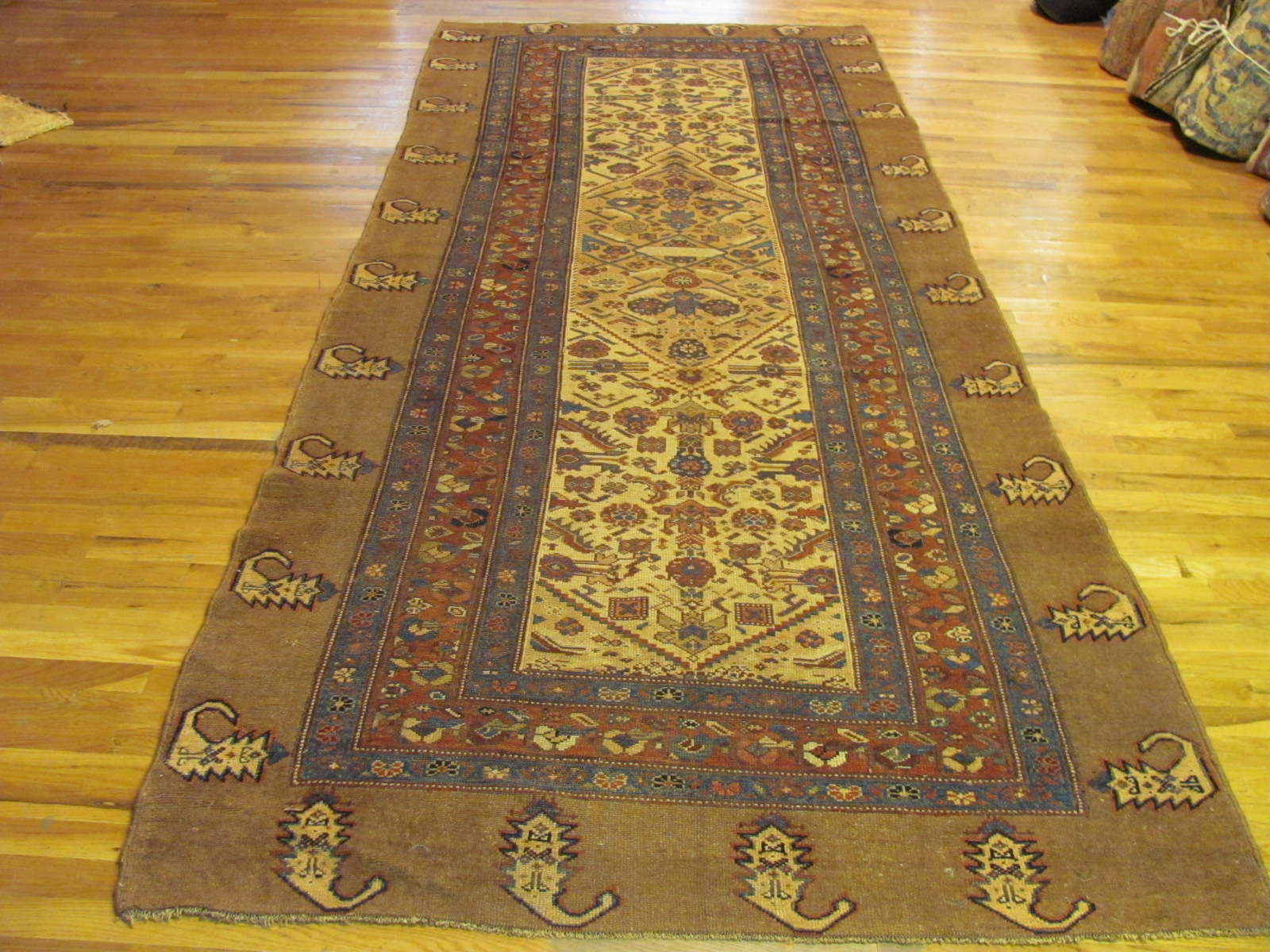 Persian Hamadan 'Camel Hair' | Handmade | Antique, Circa 1890