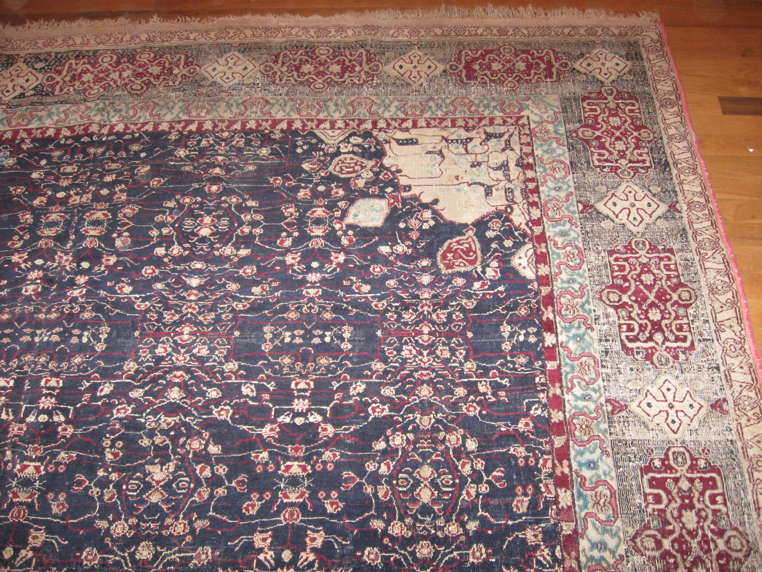 24421 antique India Agra carpet 7,10x11,6 -1