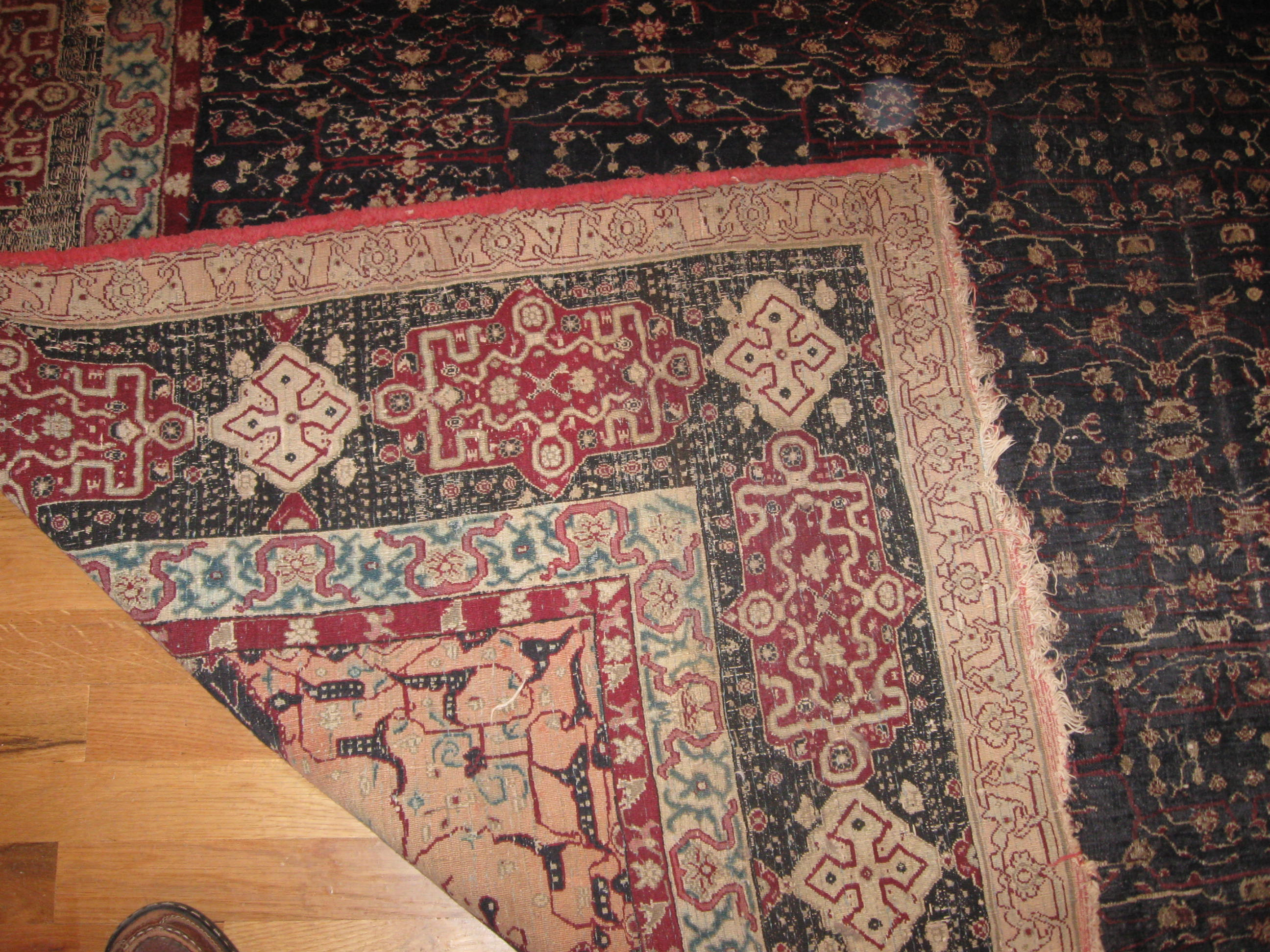 24421 antique India Agra carpet 7,10x11,6 -3
