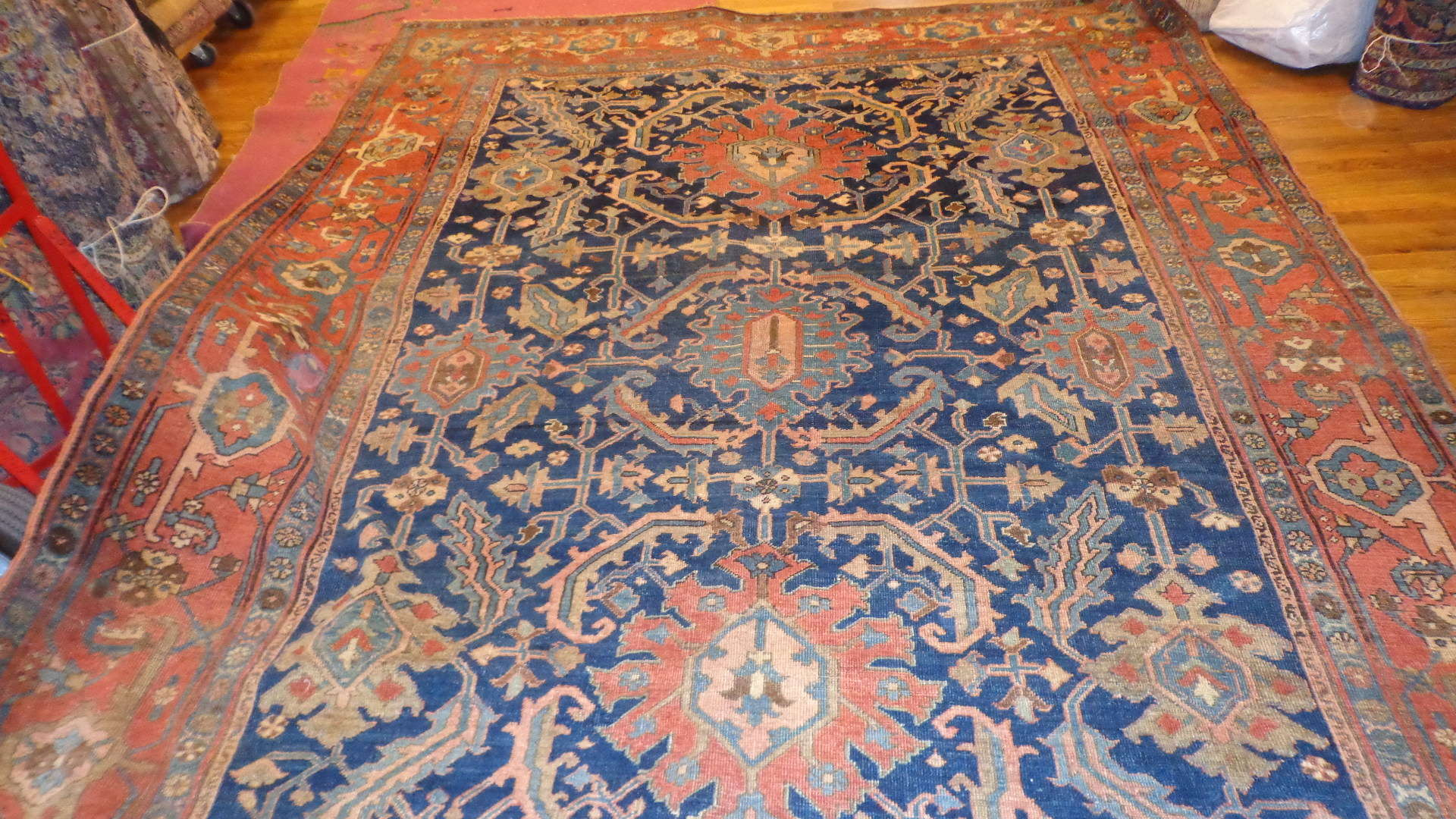 24710 Persian Heriz carpet 8,5 x 11,5 -1