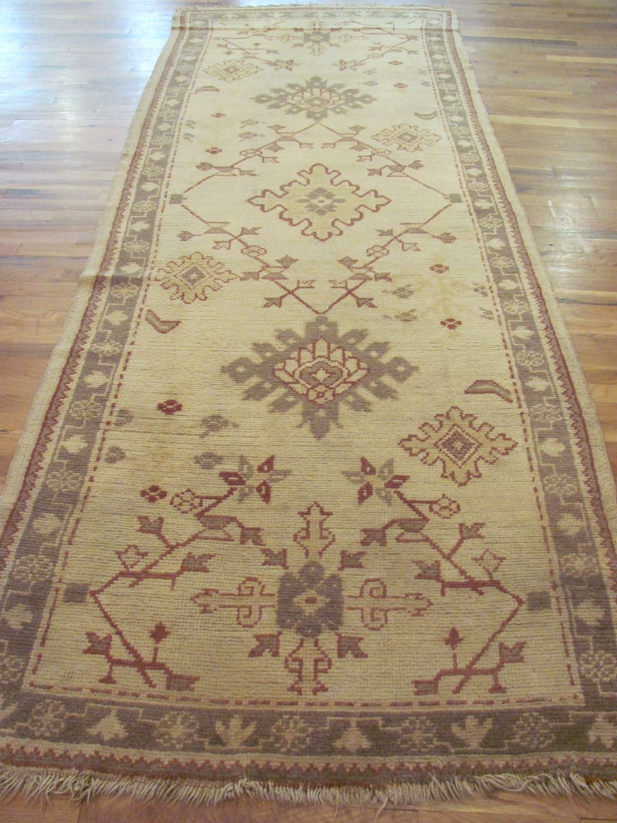 24443 Turkish Anatolian Oushak runner 3,10x10,10