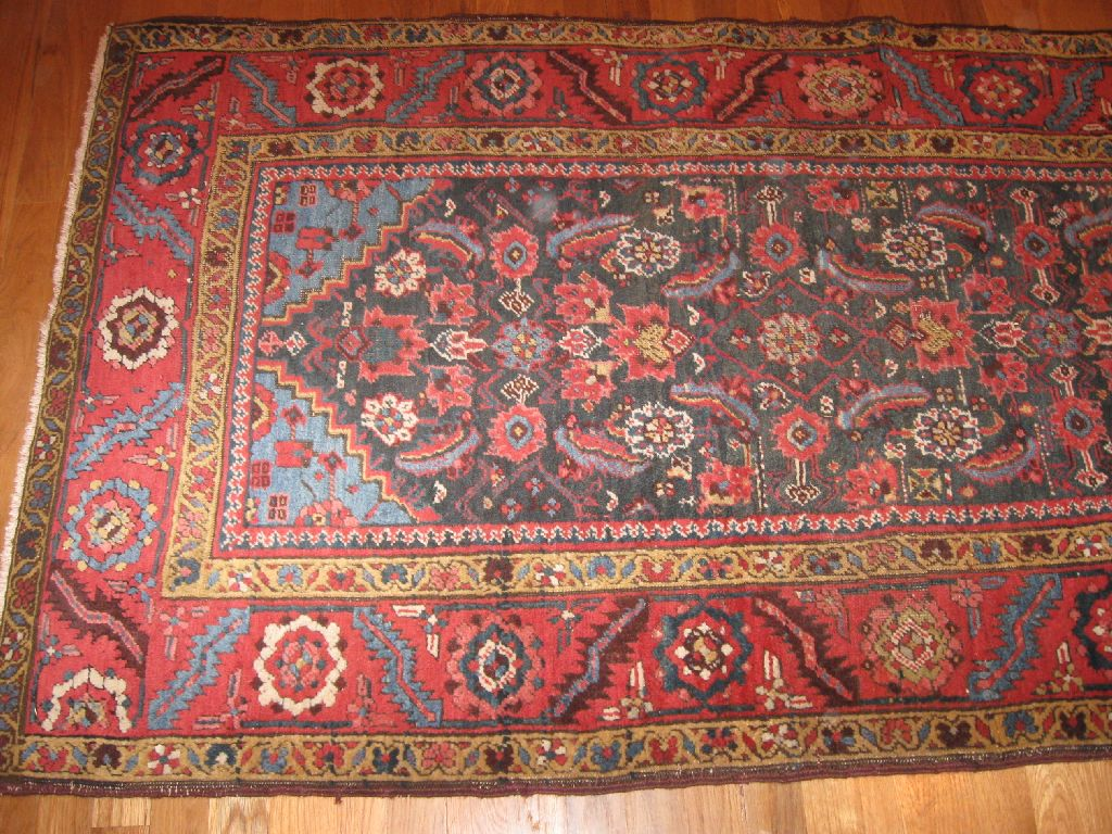 24446 antique Bakshaish hall rug 3,3x10,2 (1)