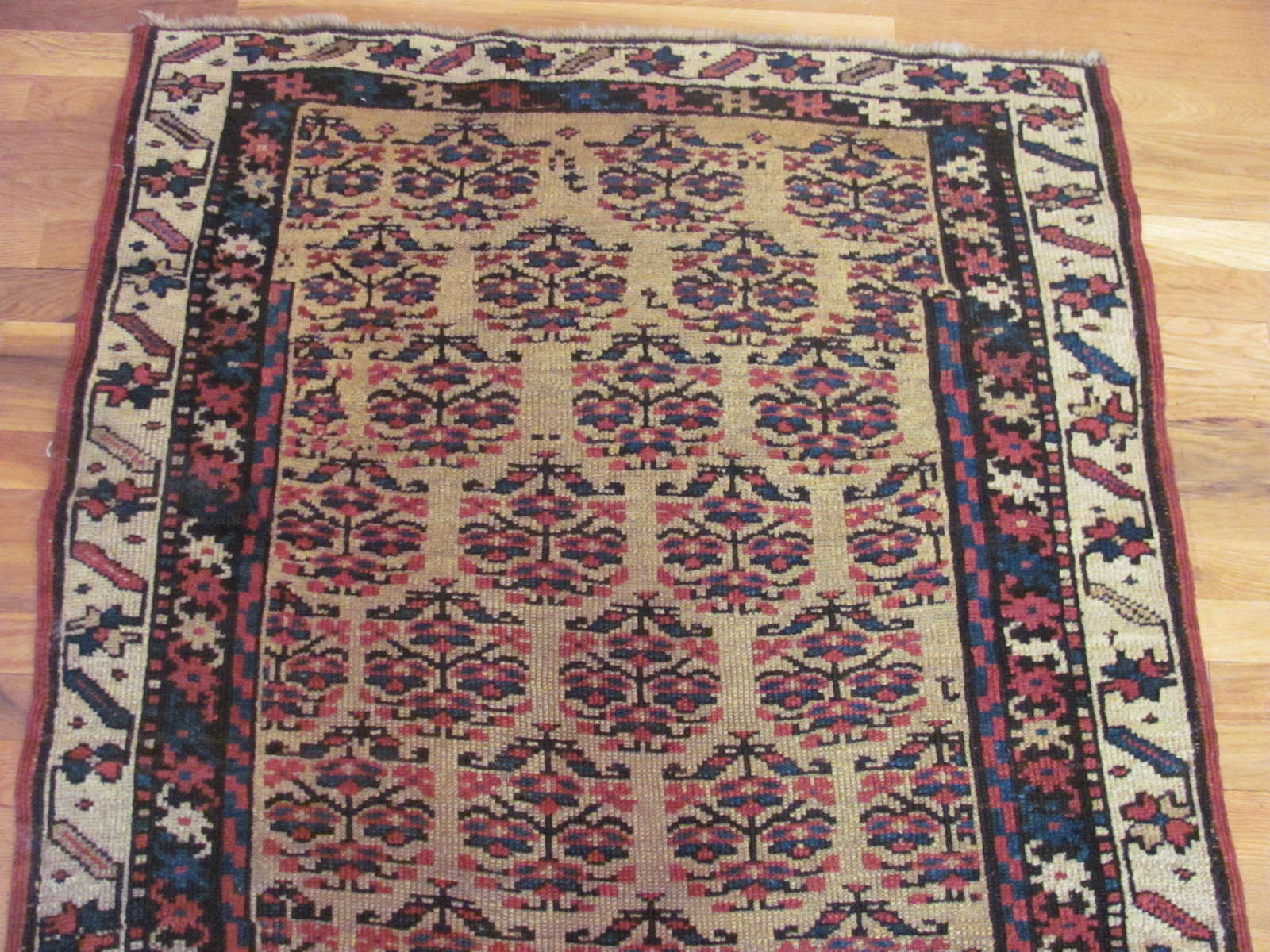 24448 antique Persian Kurd runner rug 3,4x10 -1