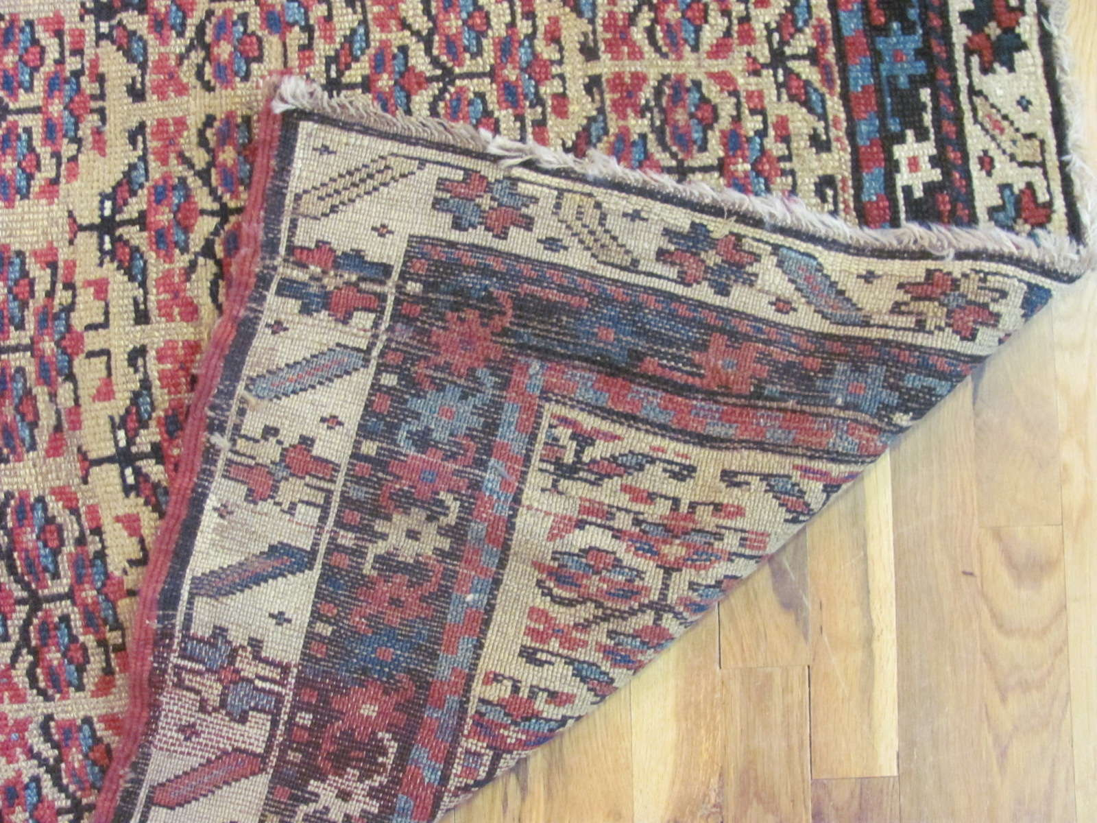 24448 antique Persian Kurd runner rug 3,4x10 -3