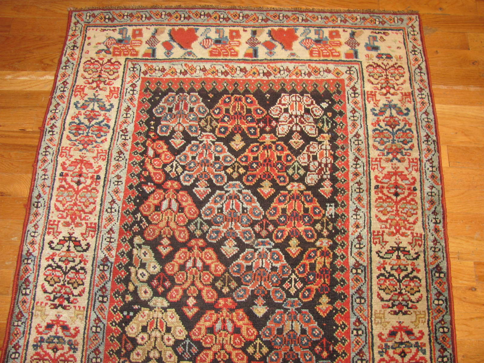 24457 antique persian kurd runner 3,3x10,2 -1