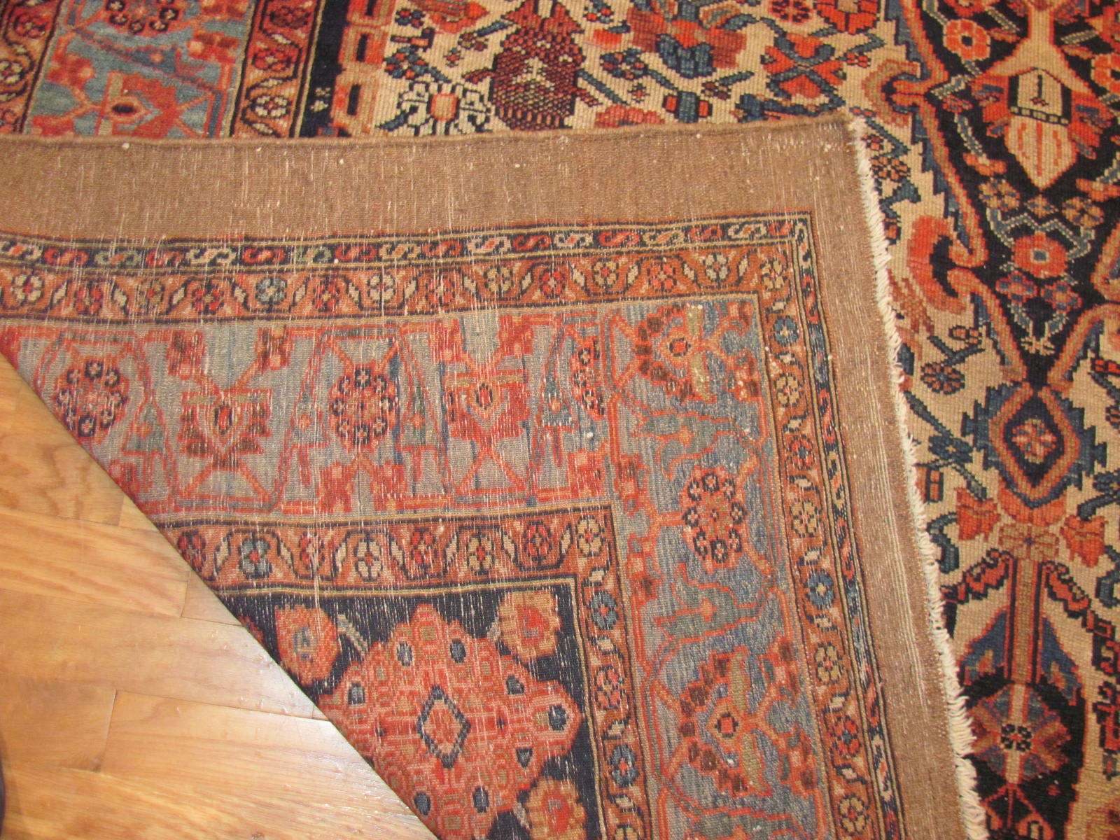 24464 antique Persian Malayer carpet 6,7x11 -3