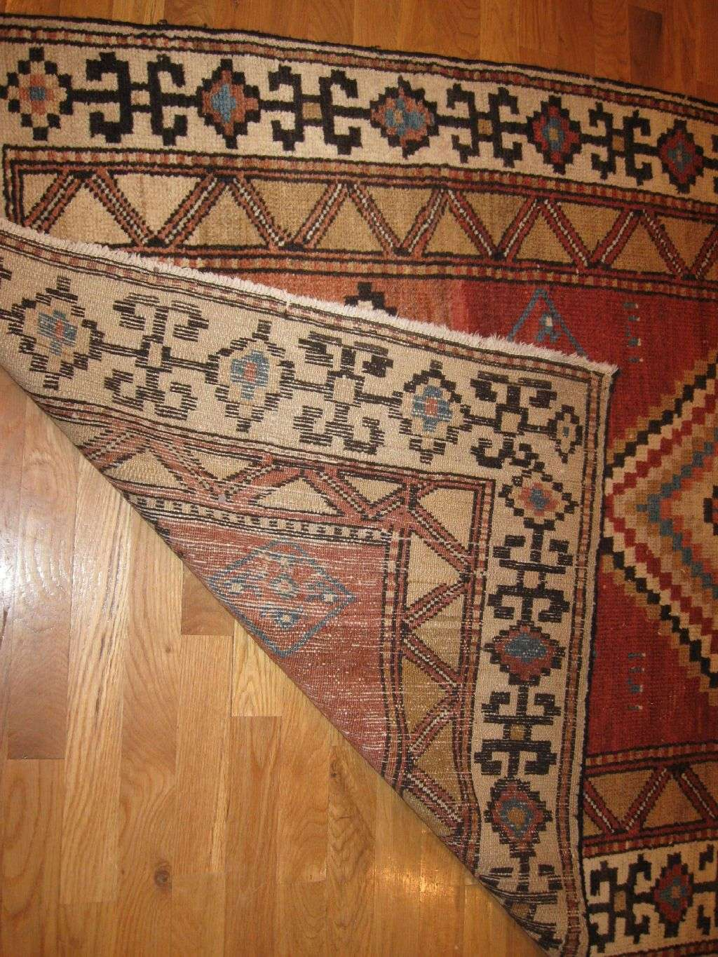 24490 antique Persian Baktiar rug 3,10x8,9 -1