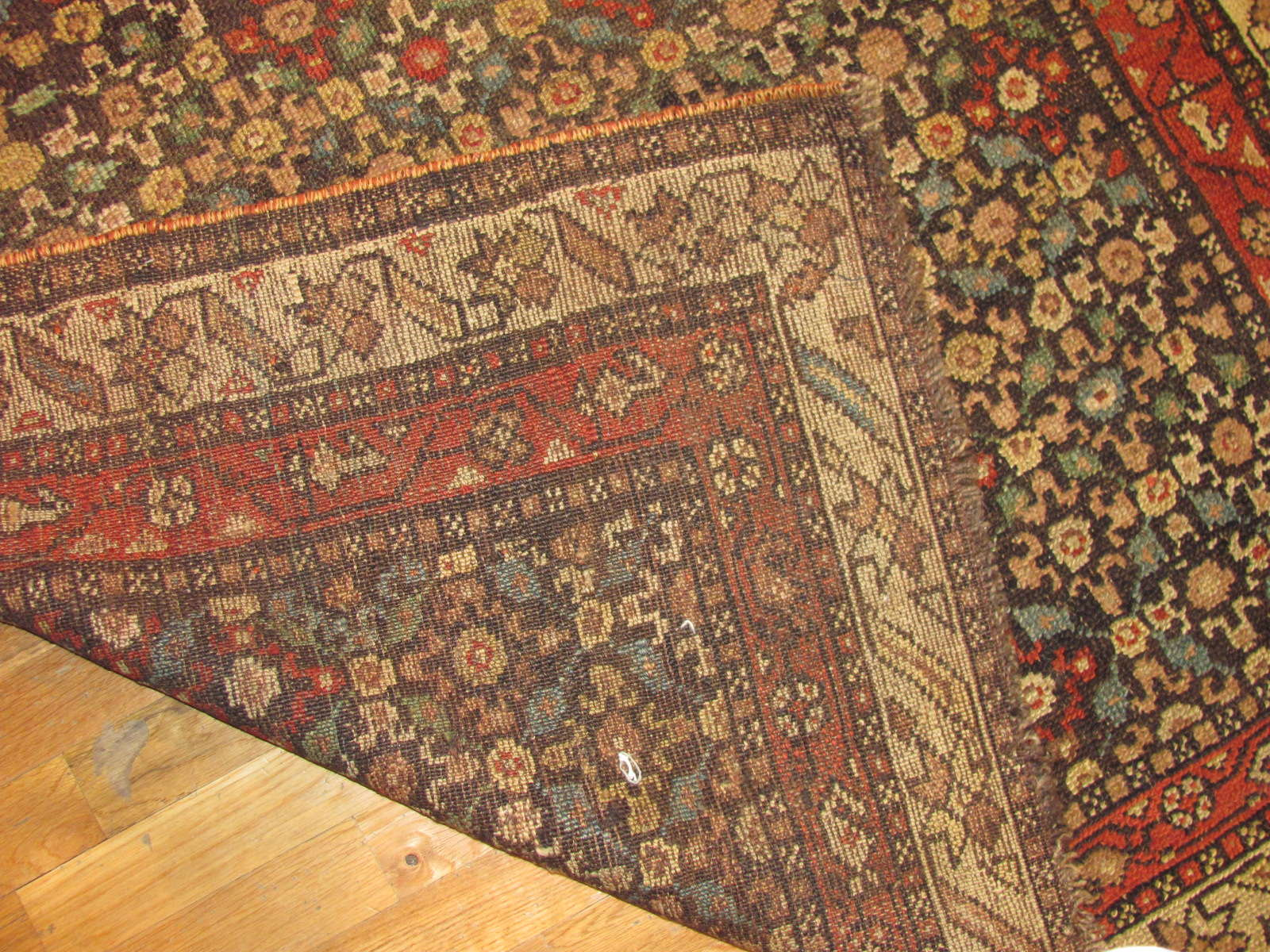 24499 antique persian kurdish rug 4,2 x 8,8 -32