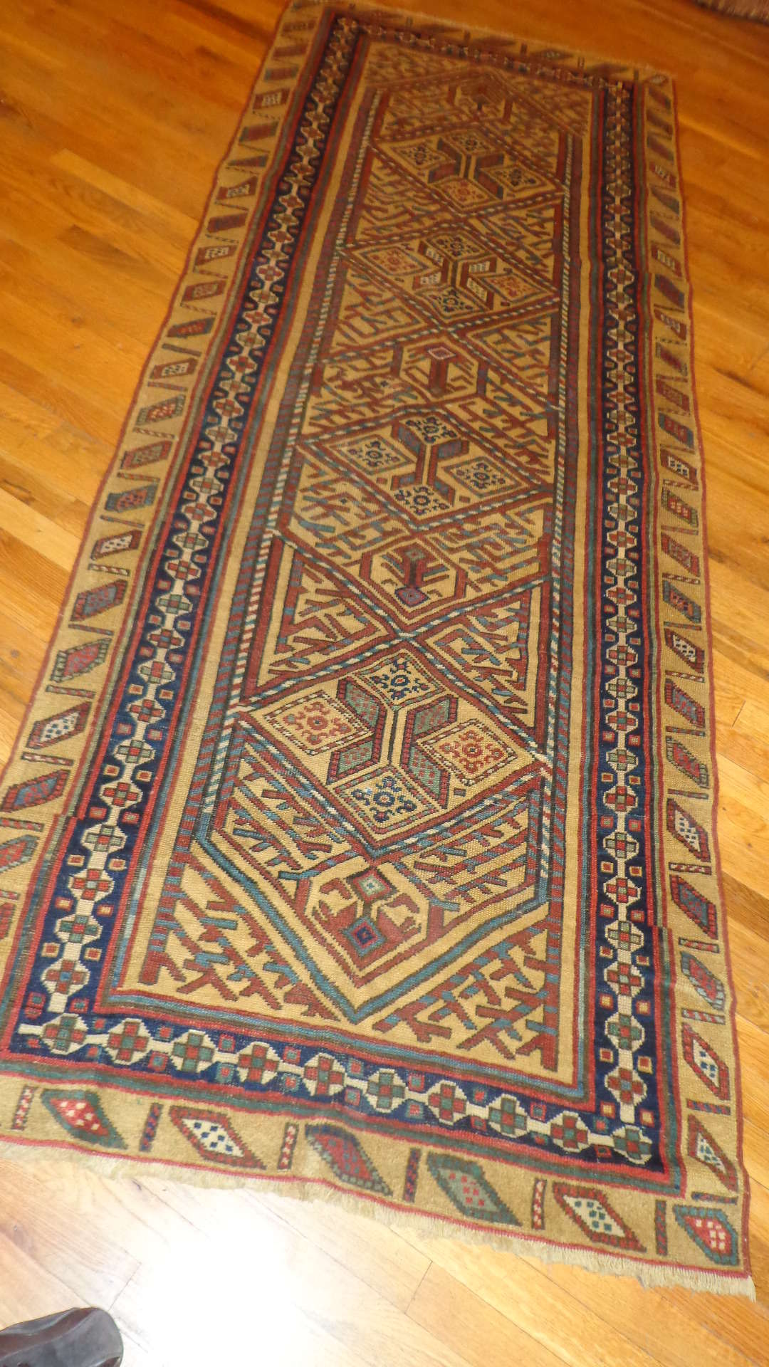 24520 Antique Bakshaish Persian runner rug 3,4 x 8,10 -1