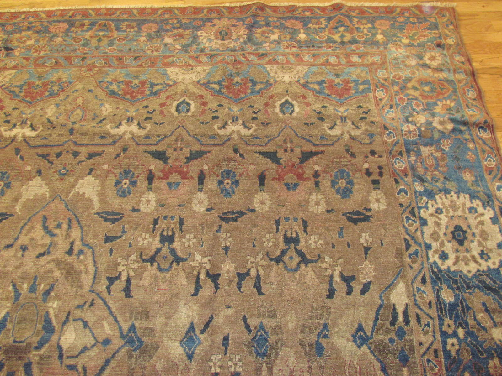 24522 antique Malayer rug 8,6 x 9 -1