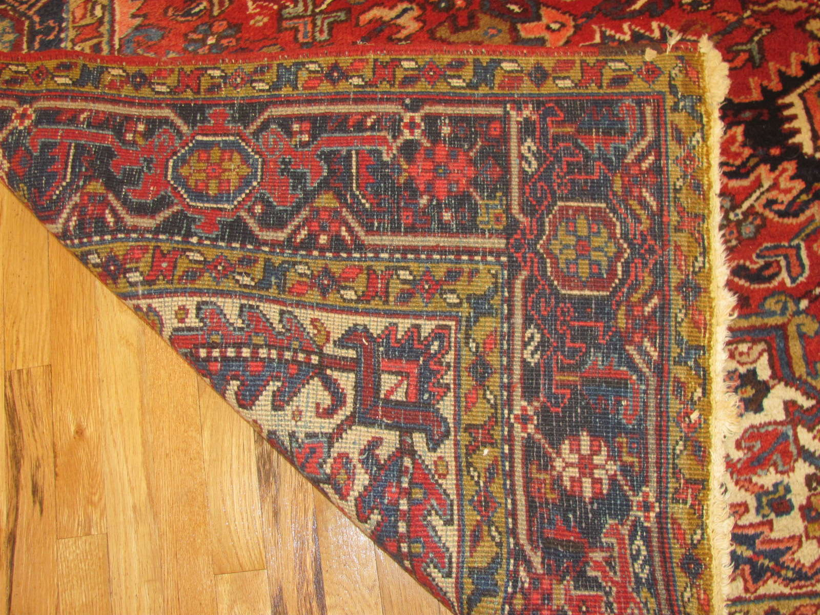 24523 Persian Heriz carpet 8,2 x 9,2 -3