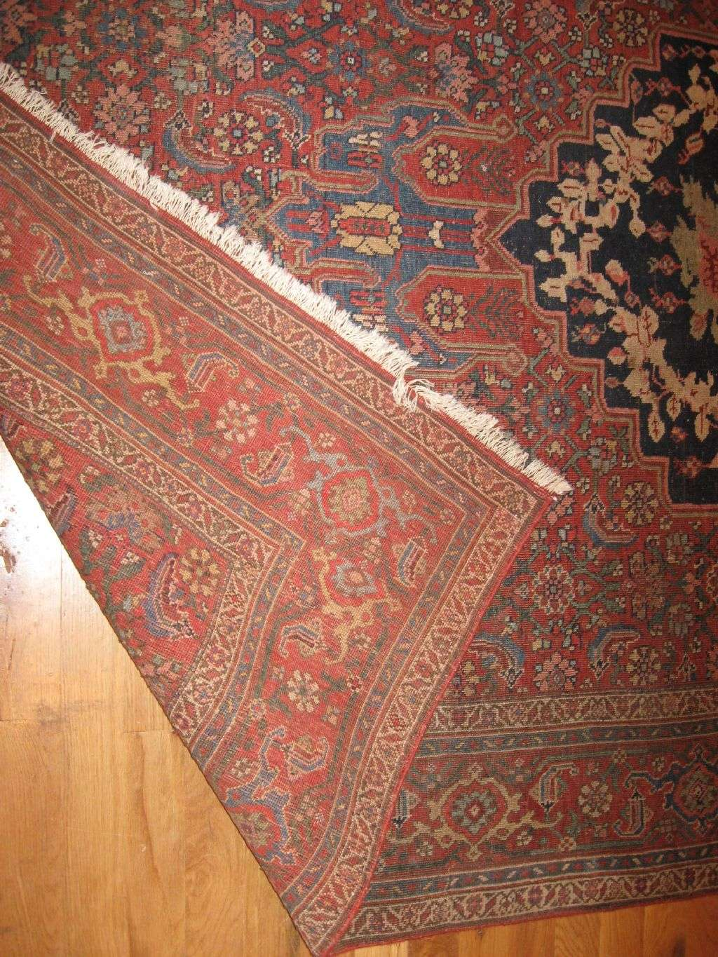 24527 antique persian bidjar rug 4,9x7,4 -1