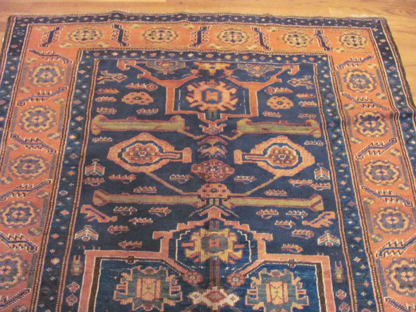 24531 antique Persian Kurd rug 4,9x8,3 (1)