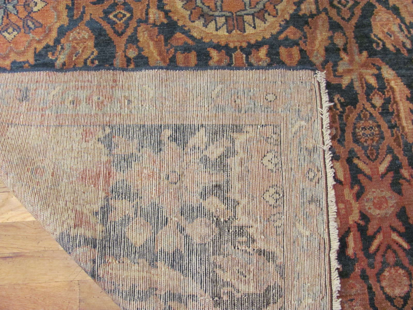 24539 antique persian malayer rug 4,9 x 7 -2