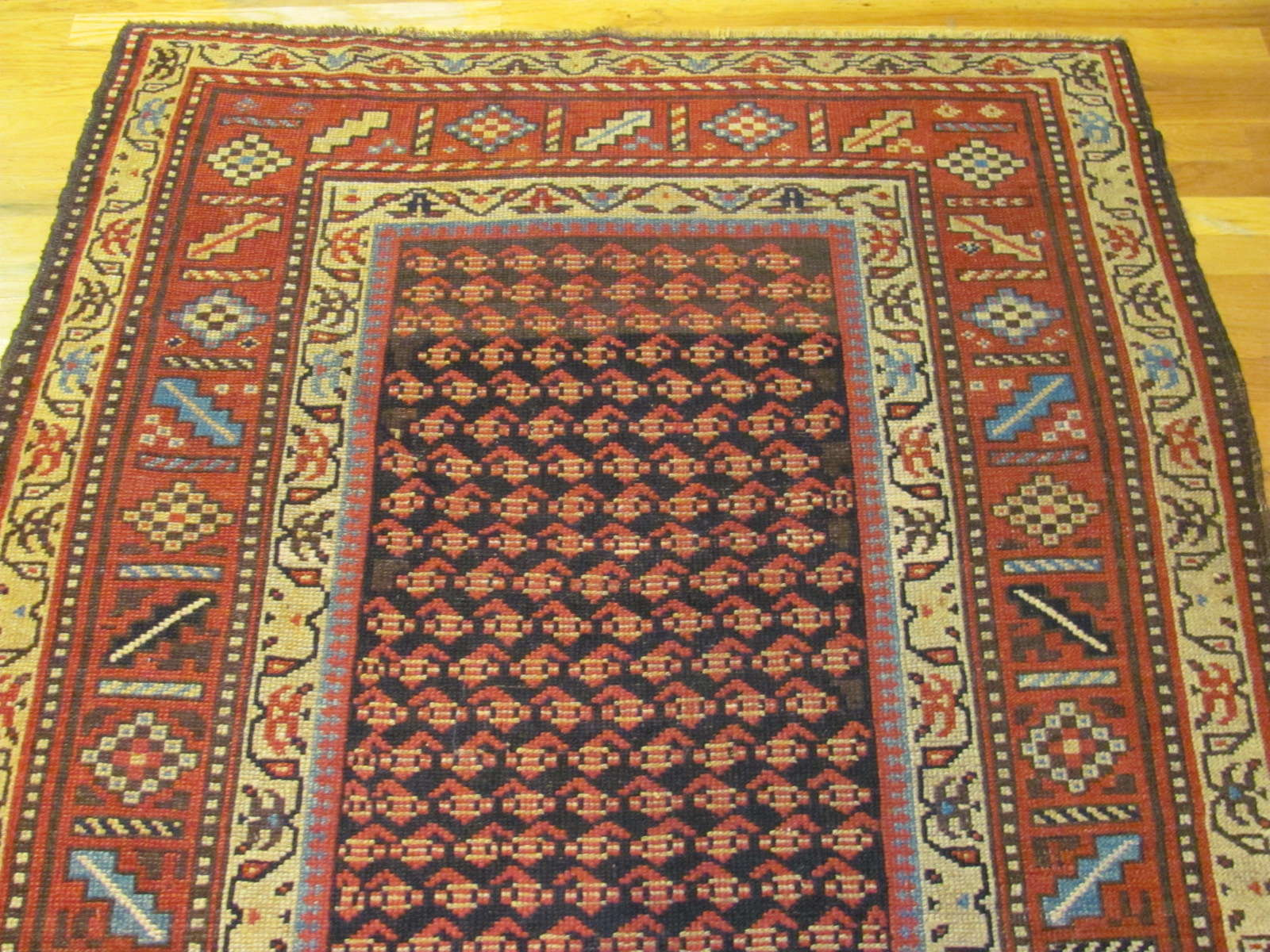 24542 antique northwest persian kurd rug 4,4x7,5 -1