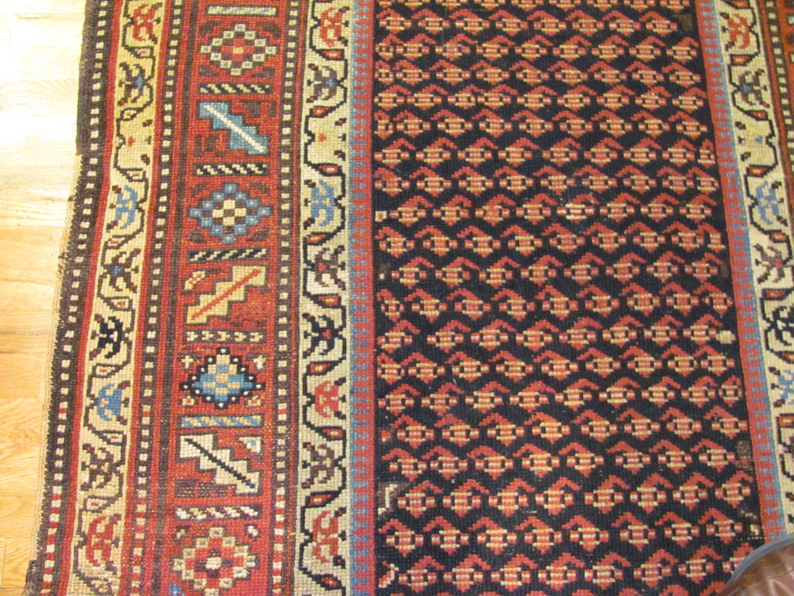 24542 antique northwest persian kurd rug 4,4x7,5 -2
