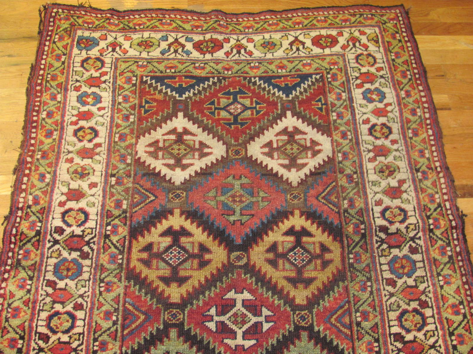 24543 antique persian kurdish rug 4,3x8,7 -1