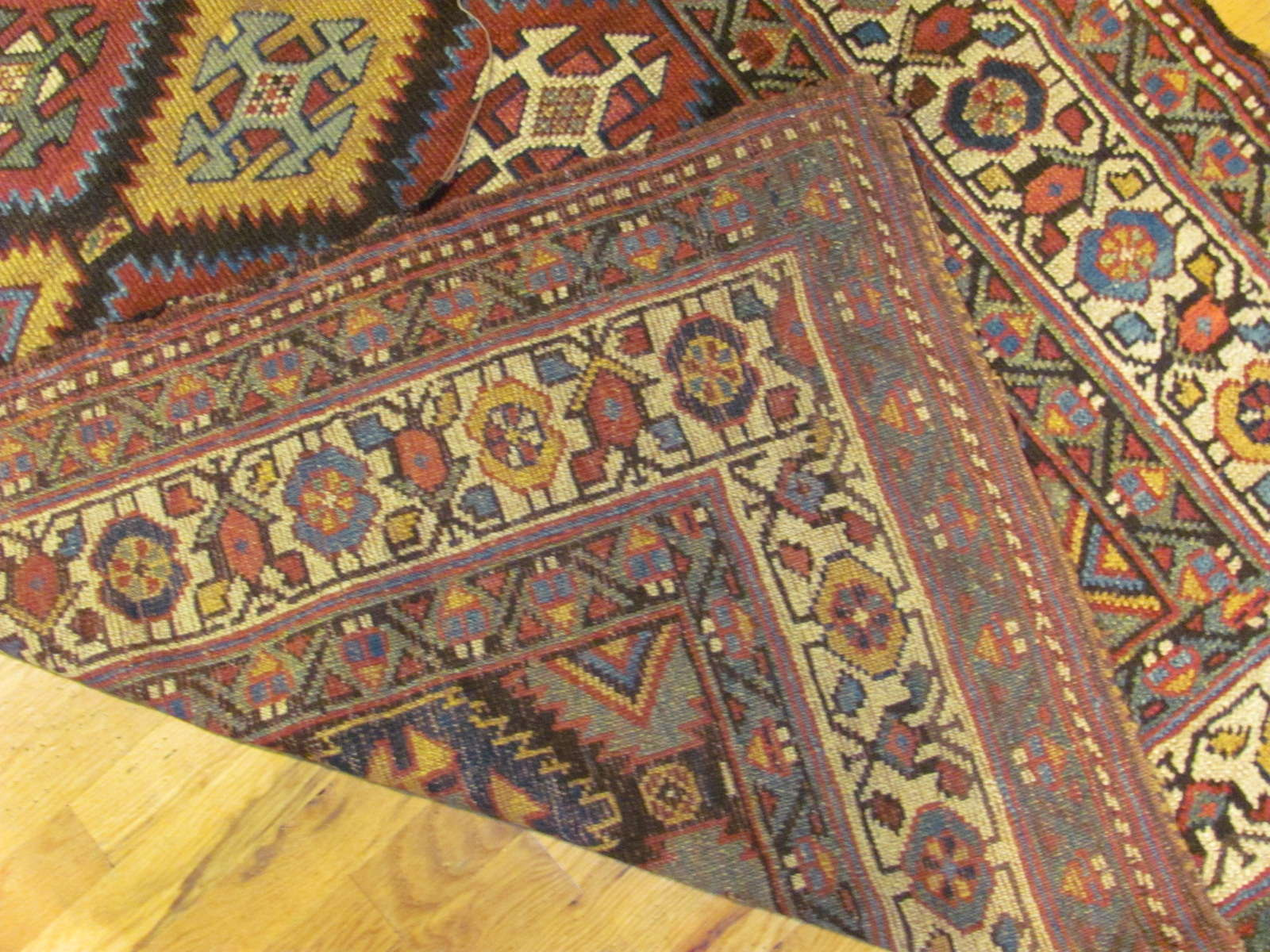 24543 antique persian kurdish rug 4,3x8,7 -3