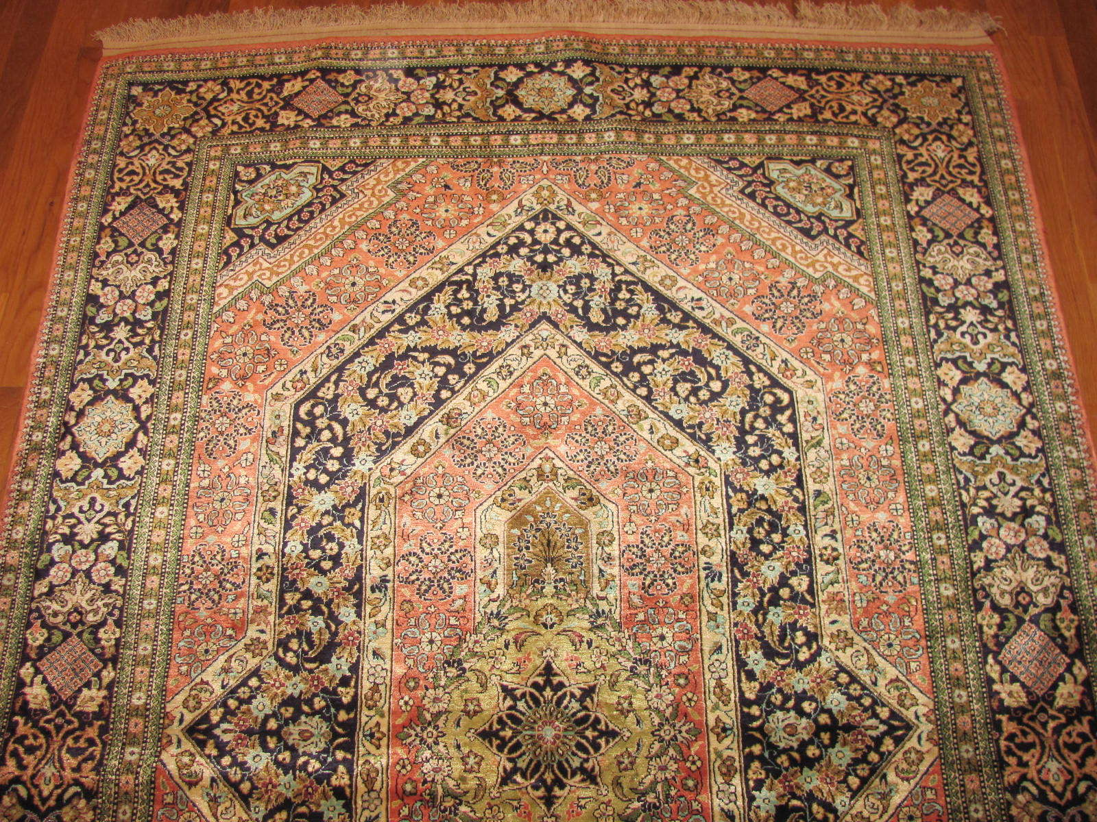 24550 persian silk quom rug 4,6x7,2 -1