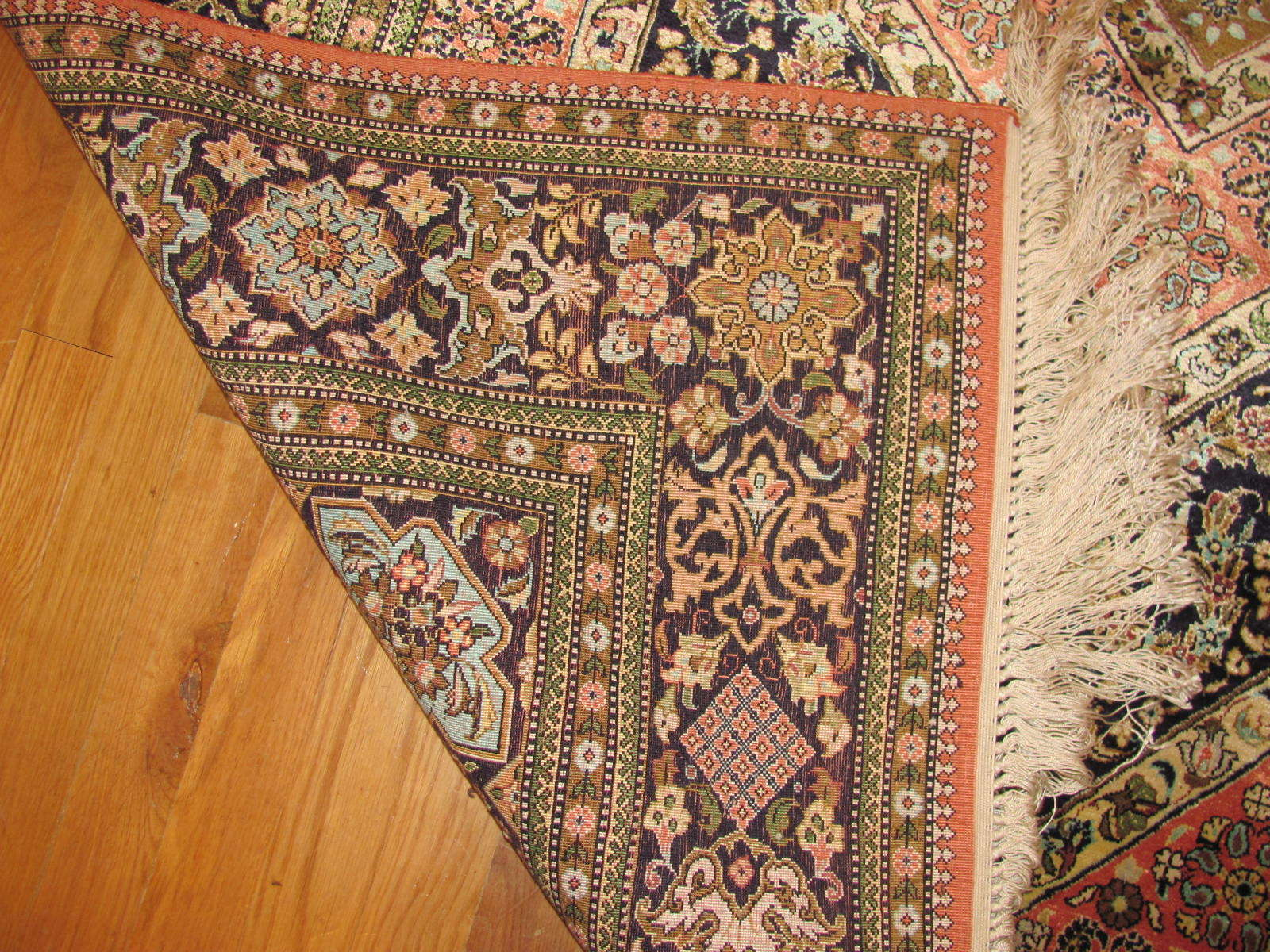 24550 persian silk quom rug 4,6x7,2 -2