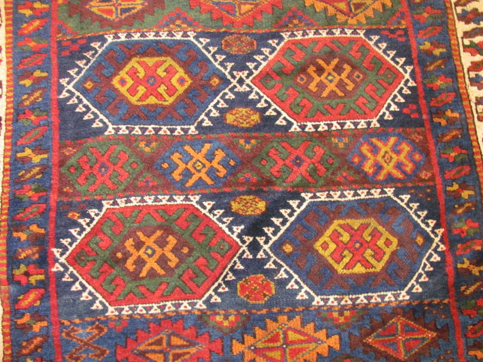 24554 antique persian joffee kurd rug 4,9x7,9 -2
