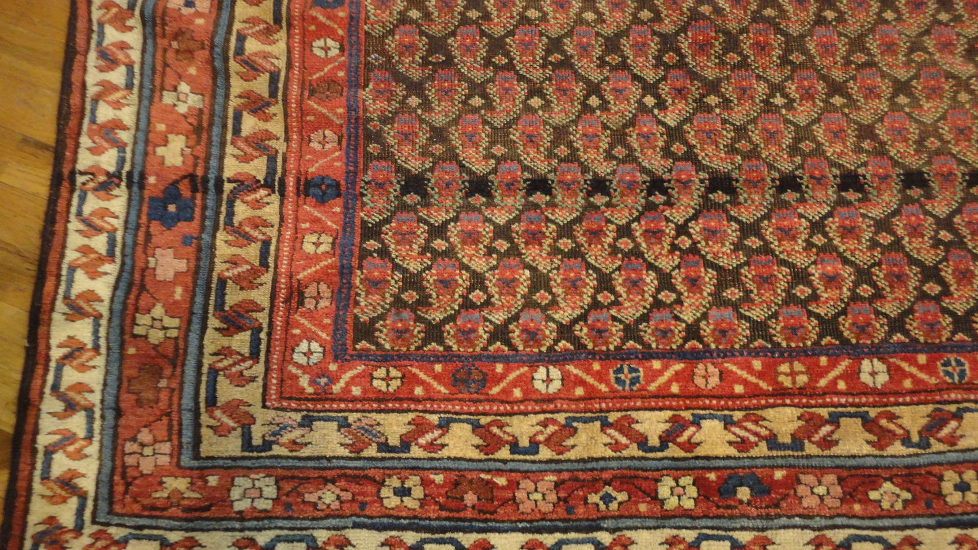 24566 antique persian kurd rug 5x8 -2