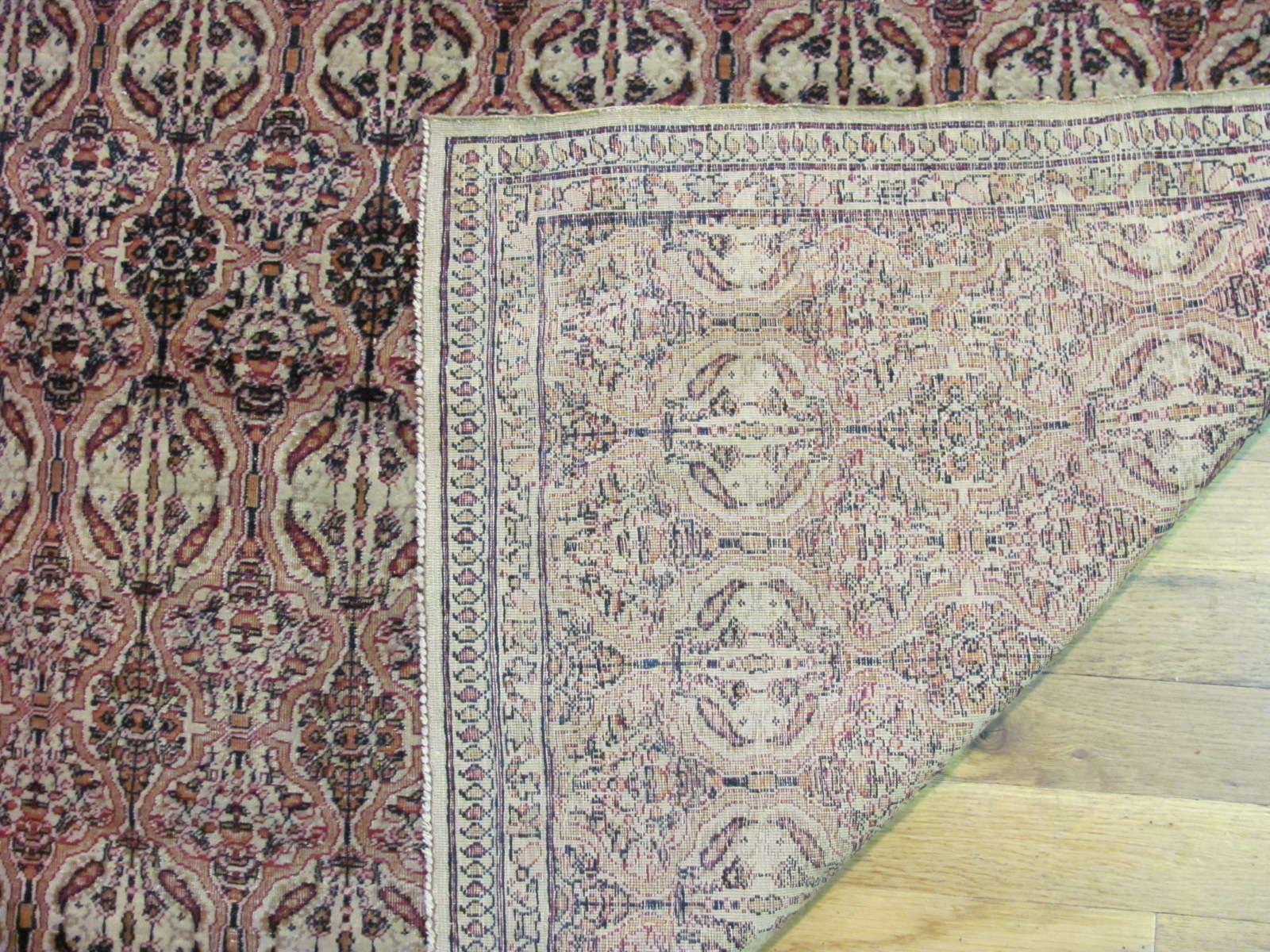 24583 antique persian kerman lavar rug 4 x 6,7 -2