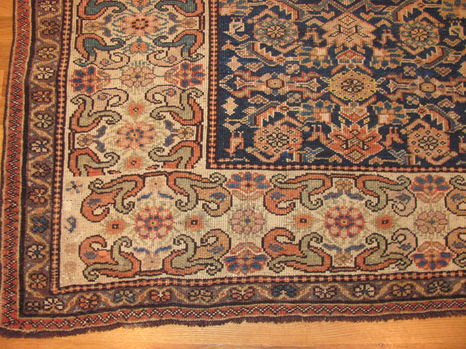 24585 antique persian kurdish rug 4,6 x 6,3 -2