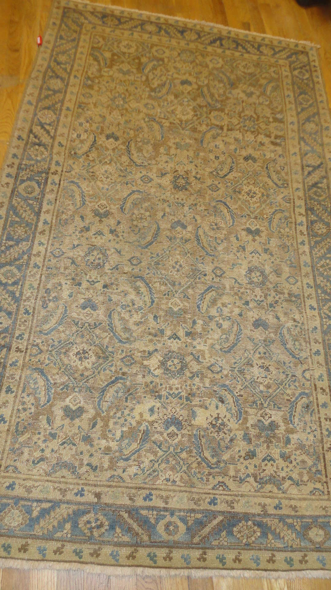 24608 antique Persian Bakshaish rug 4 x 6,6 -1