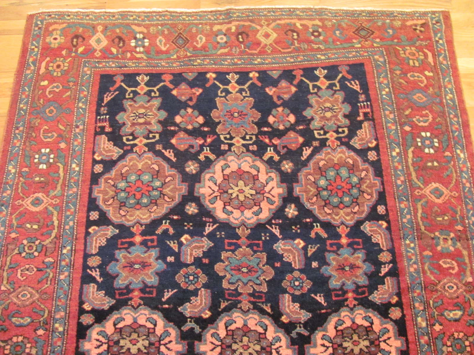 24611 antique bidjar persian rug 4,4 x 6,5 -1