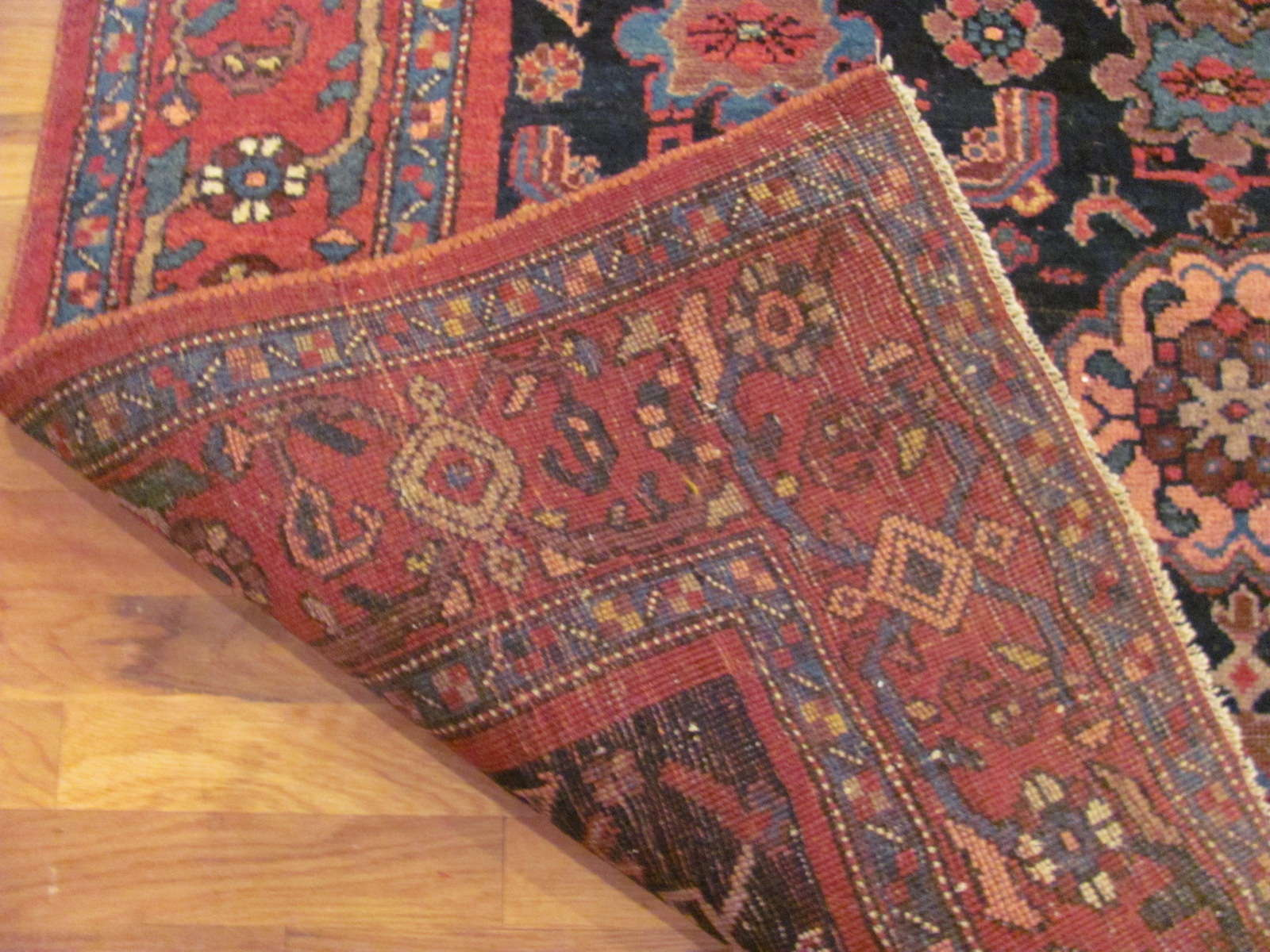24611 antique bidjar persian rug 4,4 x 6,5 -2