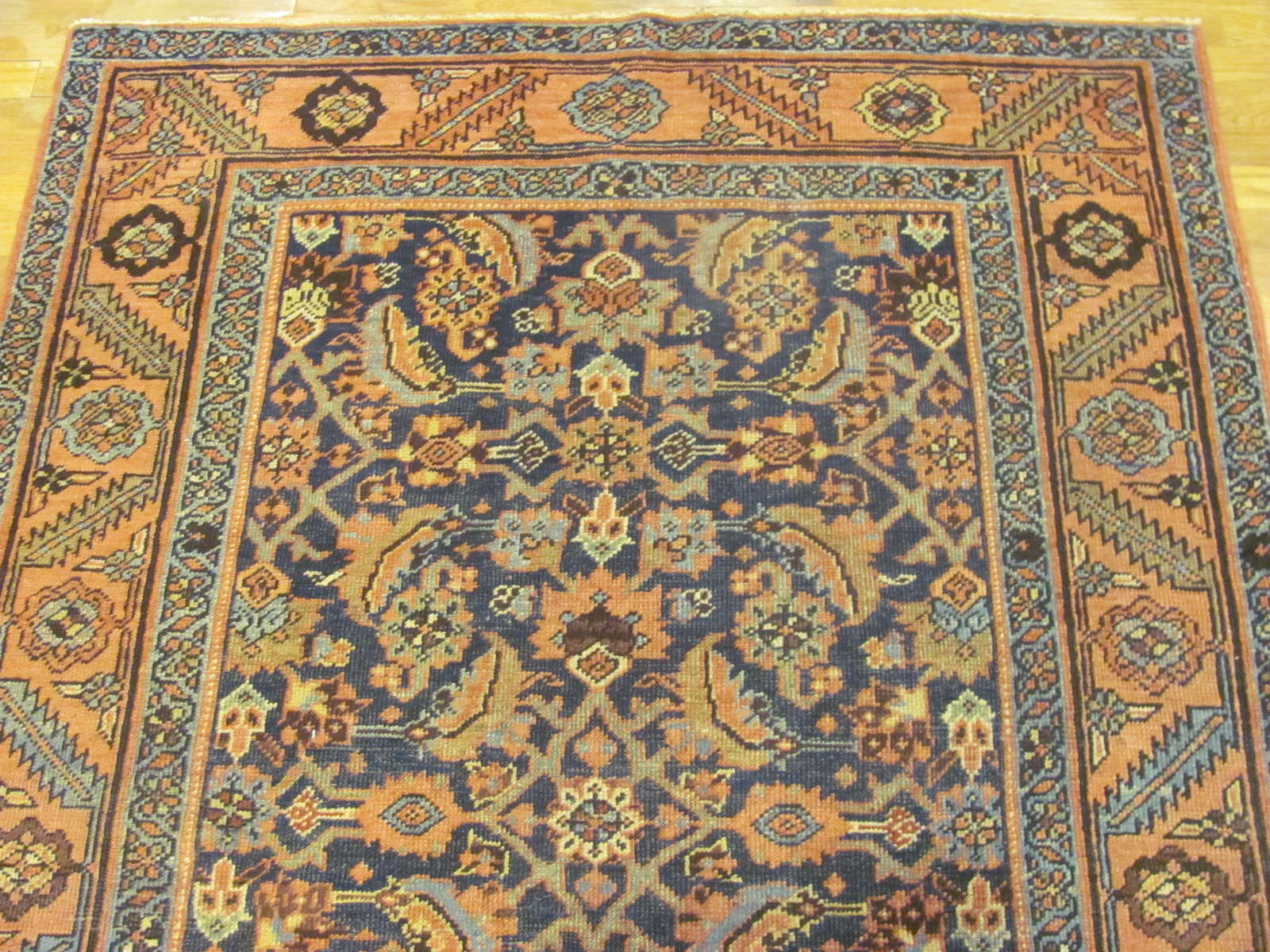 24614 antique persian heriz rug 4,8 x 6,5 -1
