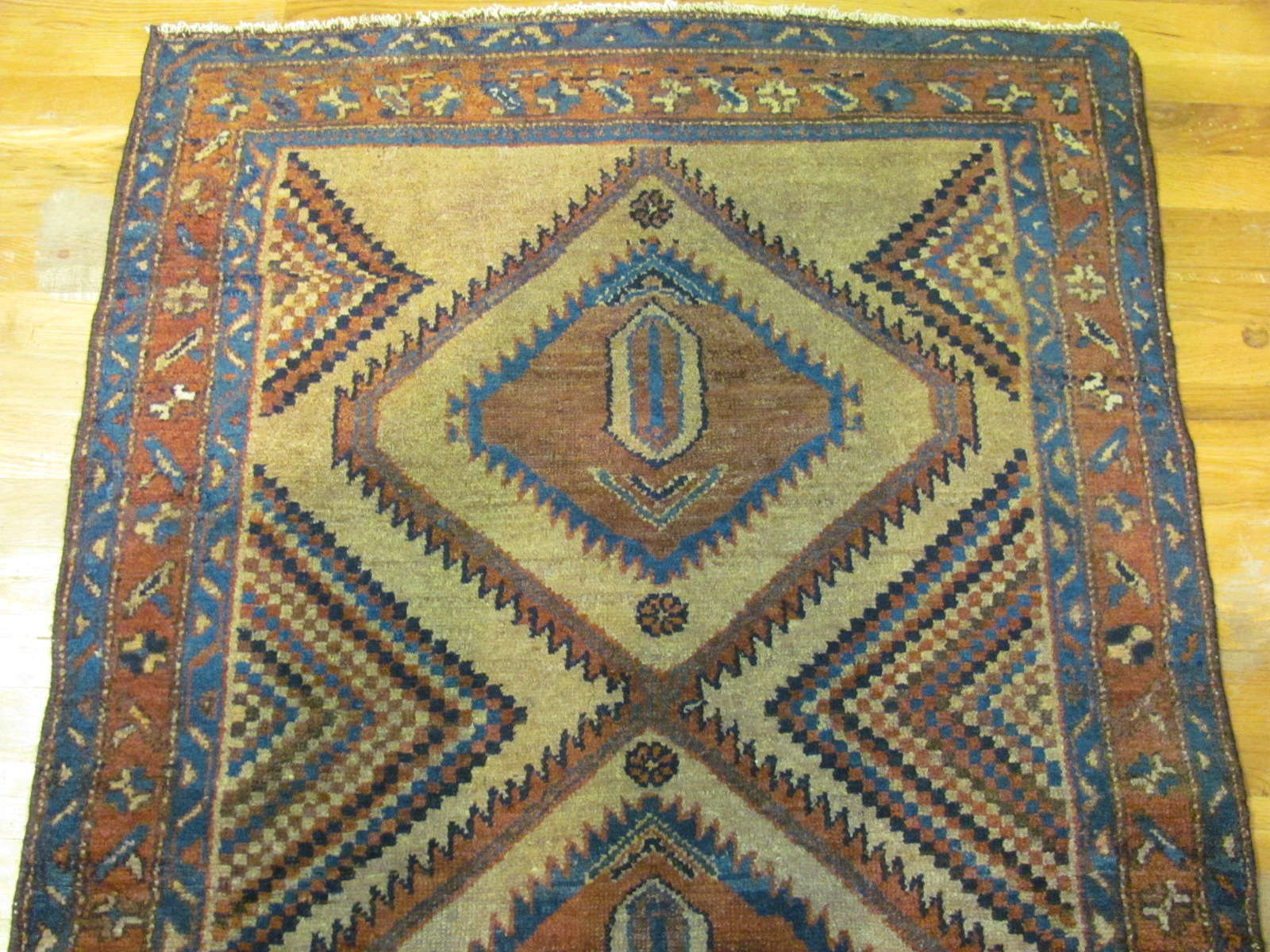 24633 antique persian hamadan rug 3 x 5,1 -1