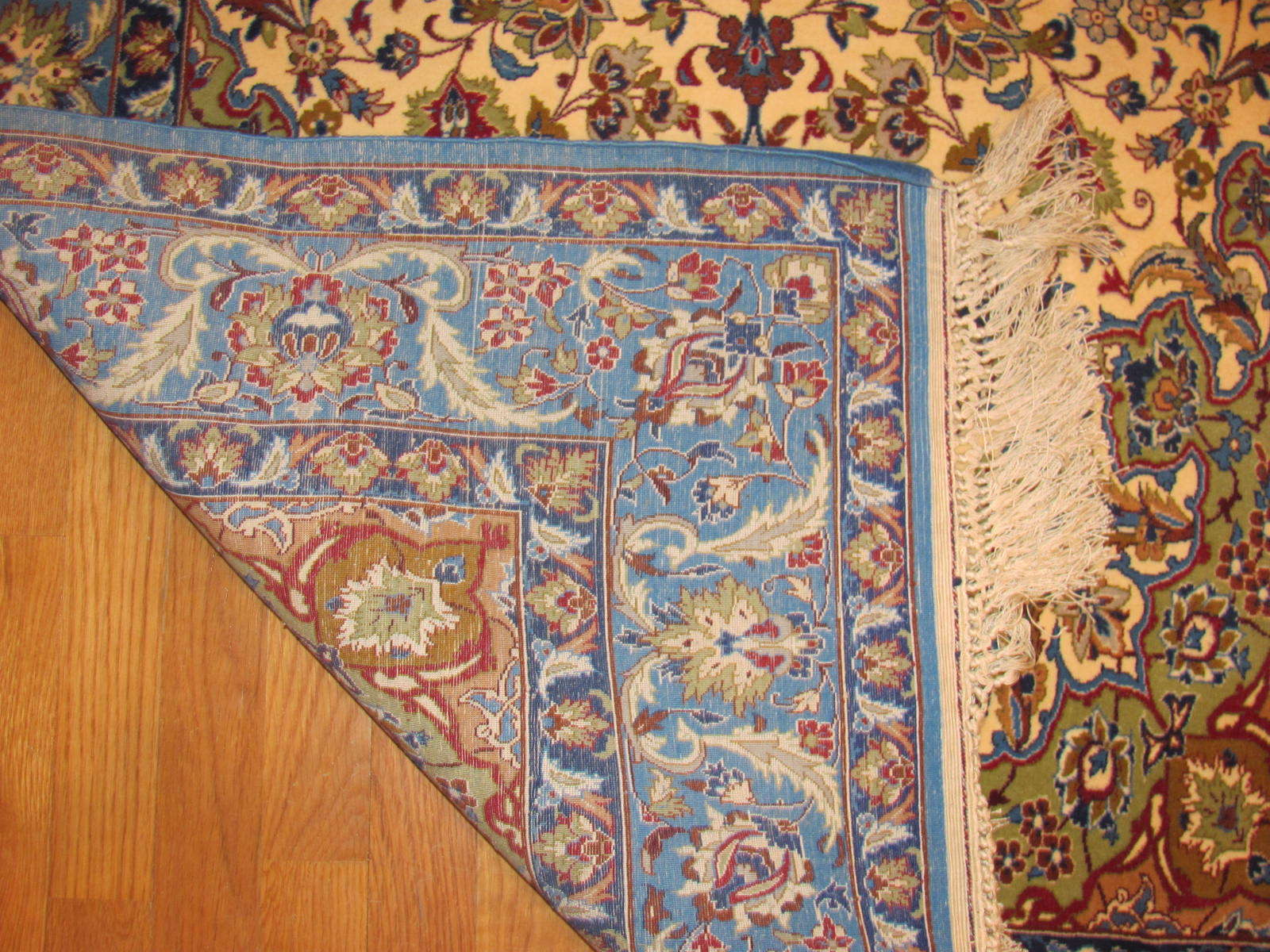 24642 persian isfahan wool & silk rug 3,6 x 5,4 -2